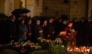 Uroczystości przy grobie bł. ks. Popiełuszki