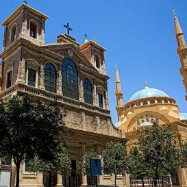 Bejrut katedra św Jerzego i meczet