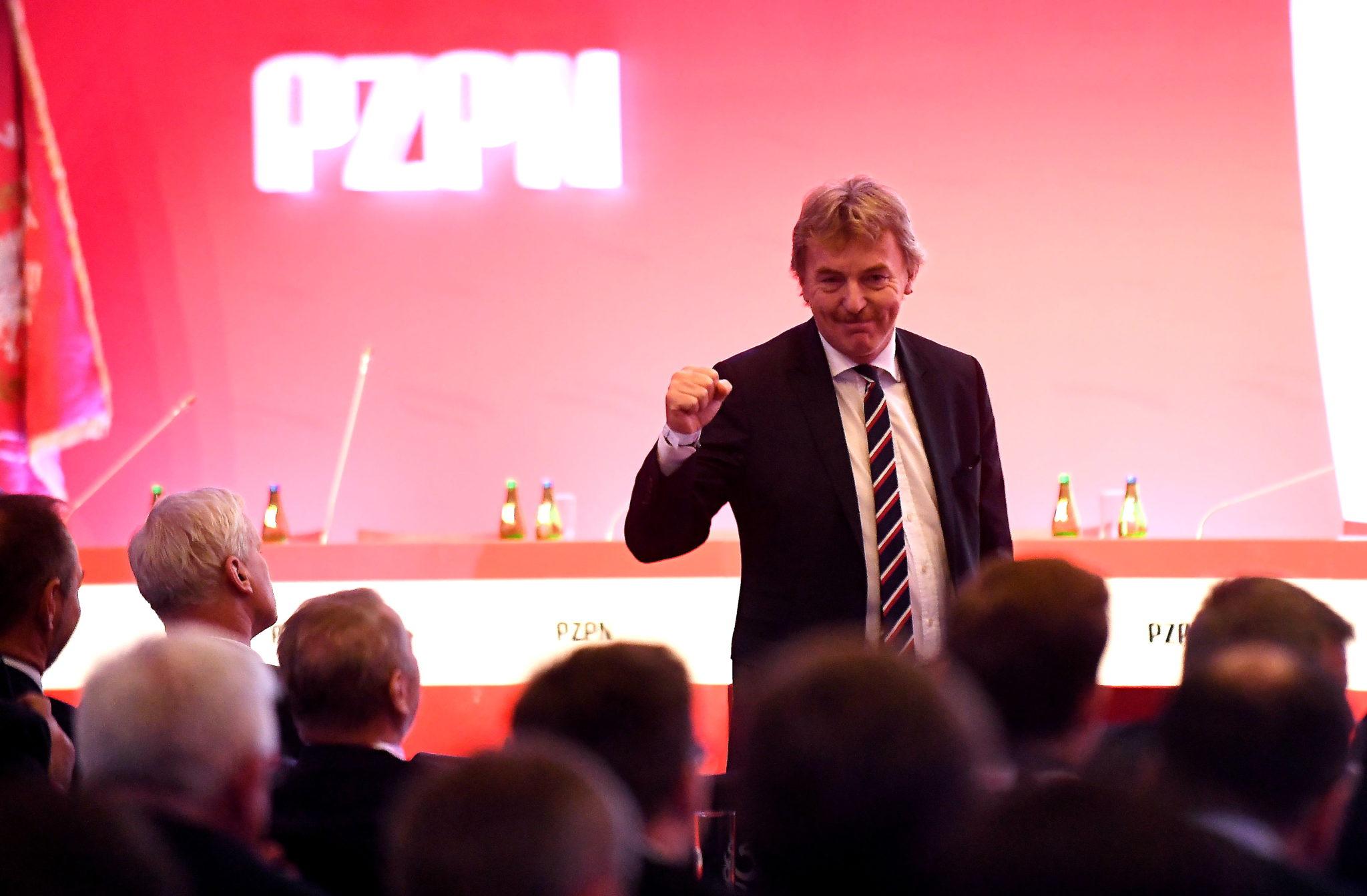 Zbigniew Boniek został wybrany ponownie szefem PZPN. PAP/Bartłomiej Zborowski