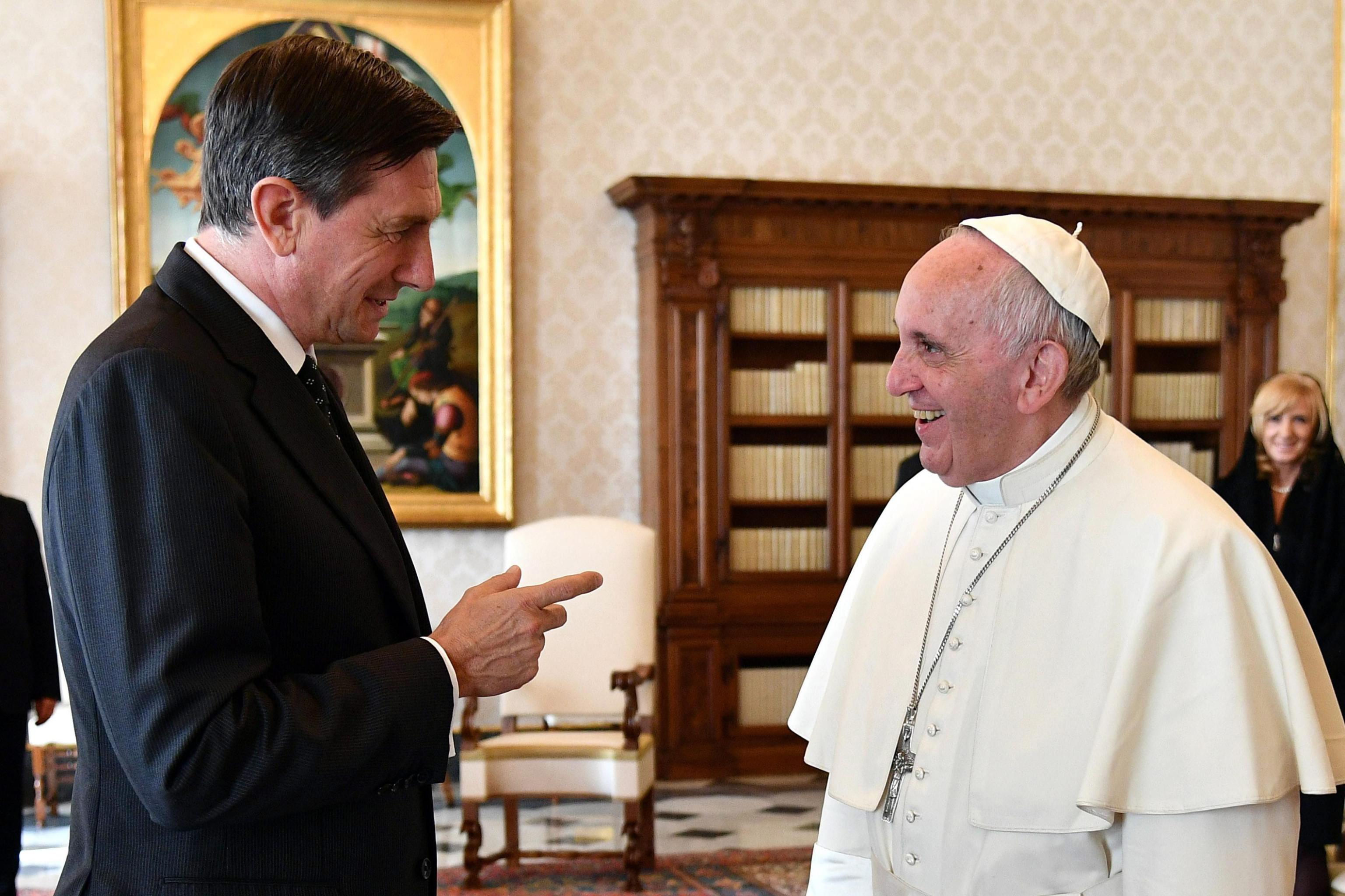 Franciszek przyjął dzisiaj na prywatnej audiencji prezydenta Słowenii Boruta Pahora. Okazją była zbliżająca się 25. rocznica nawiązania stosunków dyplomatycznych między Watykanem a Ljubljaną.