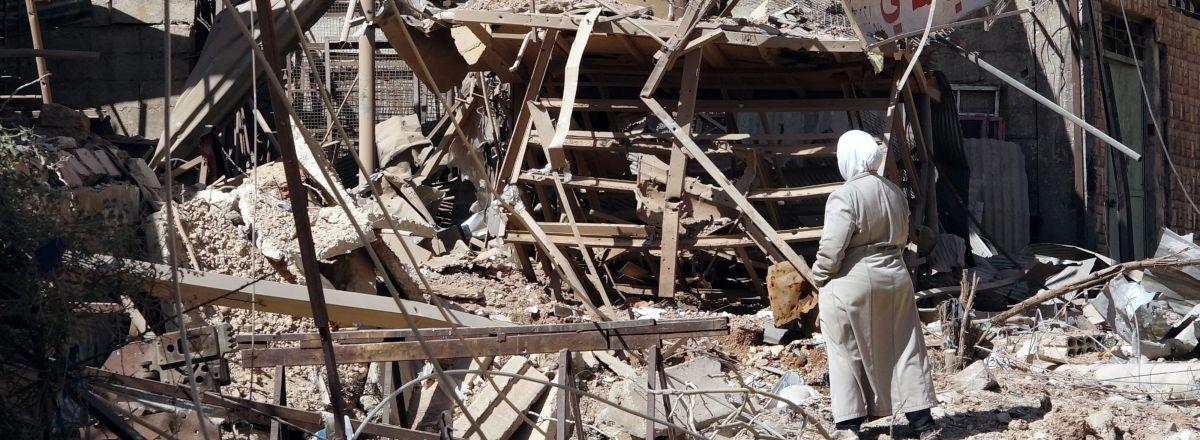 Zrujnowane miasto Qudsaya,