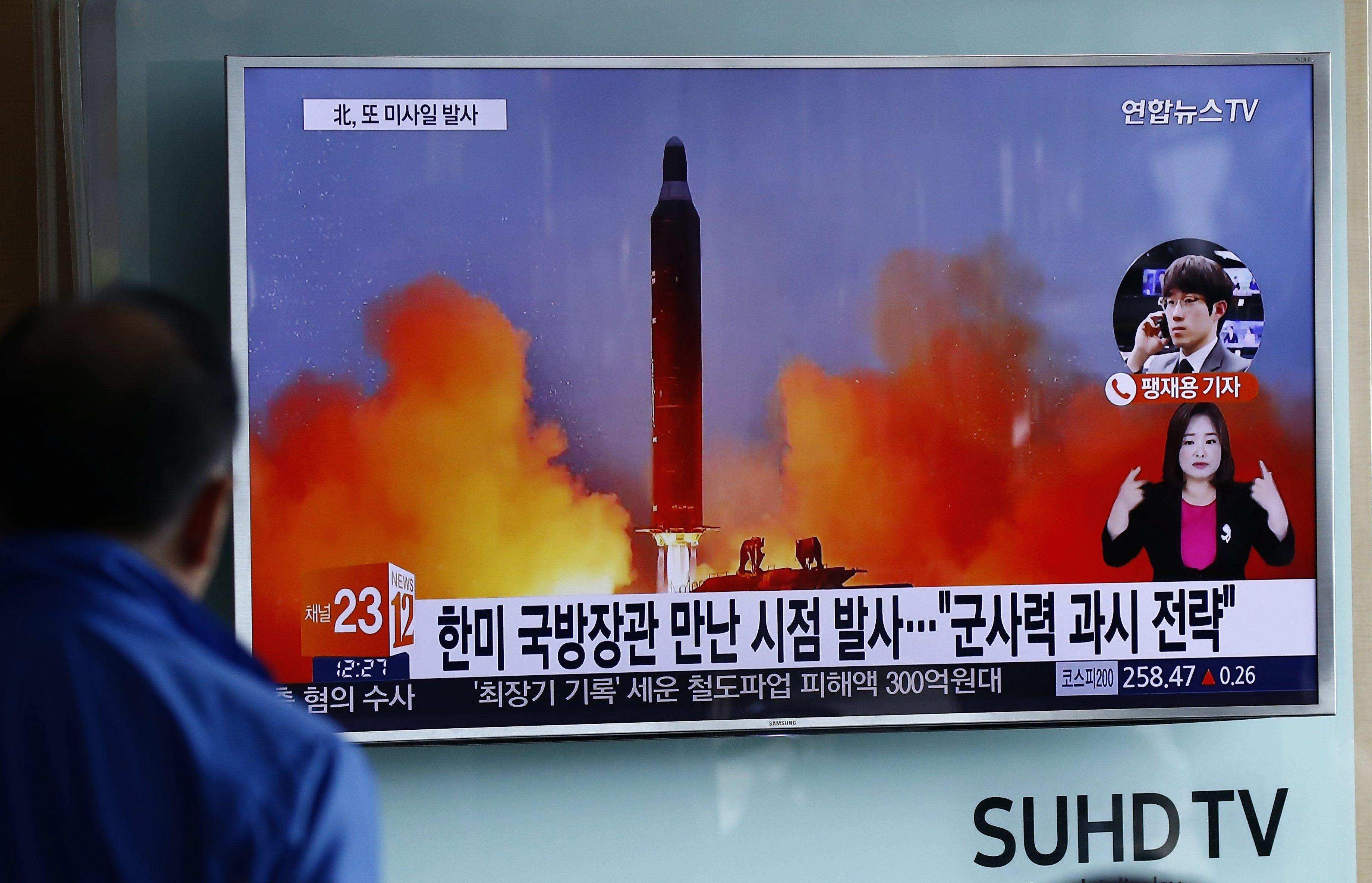 Nieudana próba balistyczna w Korei Północnej