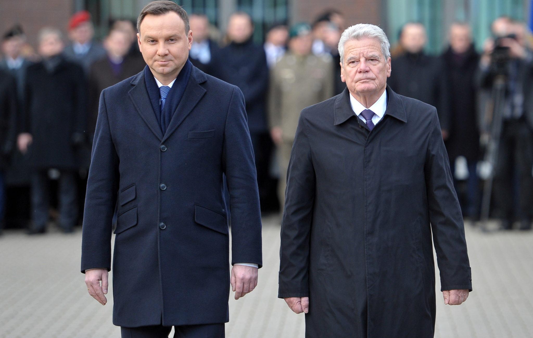 Polska: wizyta prezydenta Niemiec Joachima Gaucka w Szczecinie w korpusie NATO (foto. PAP/Marcin Bielecki)