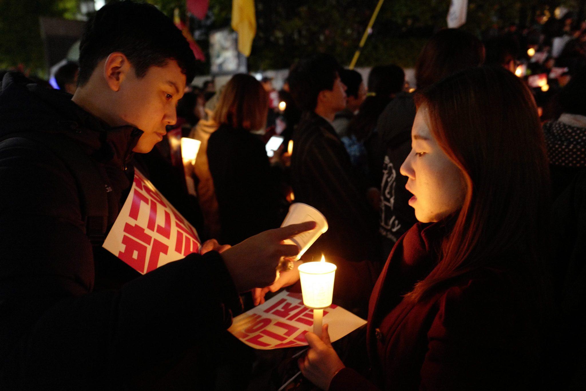Protesty przeciwko prezydentowi w Korei Południowej. Fot. EPA/JEON HEON-KYUN