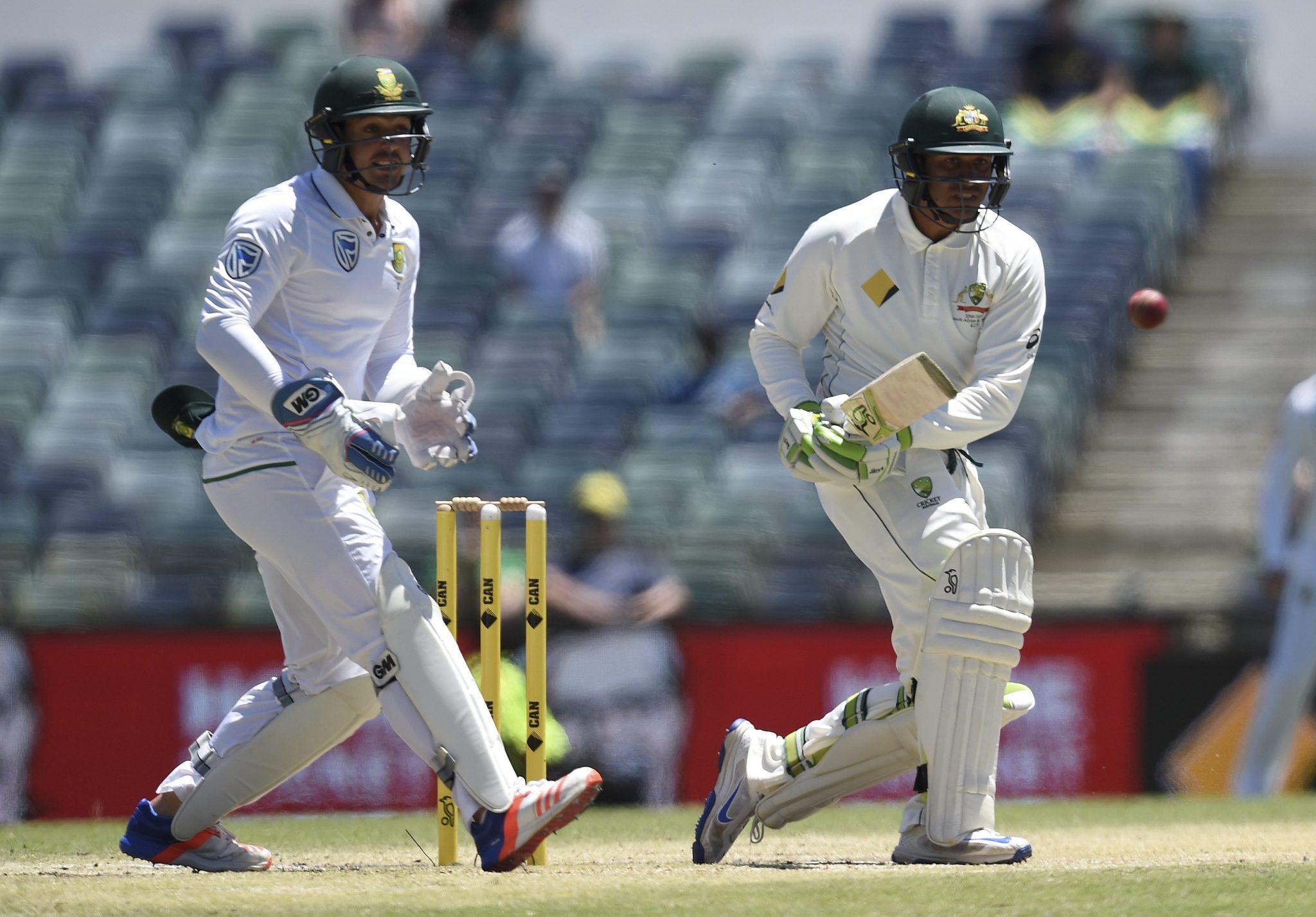 Australia: towarzyski mecz krykieta pomiędzy reprezentacją Australii a Republiką Południowej Afryki (foto. PAP/EPA/DAVE HUNT)