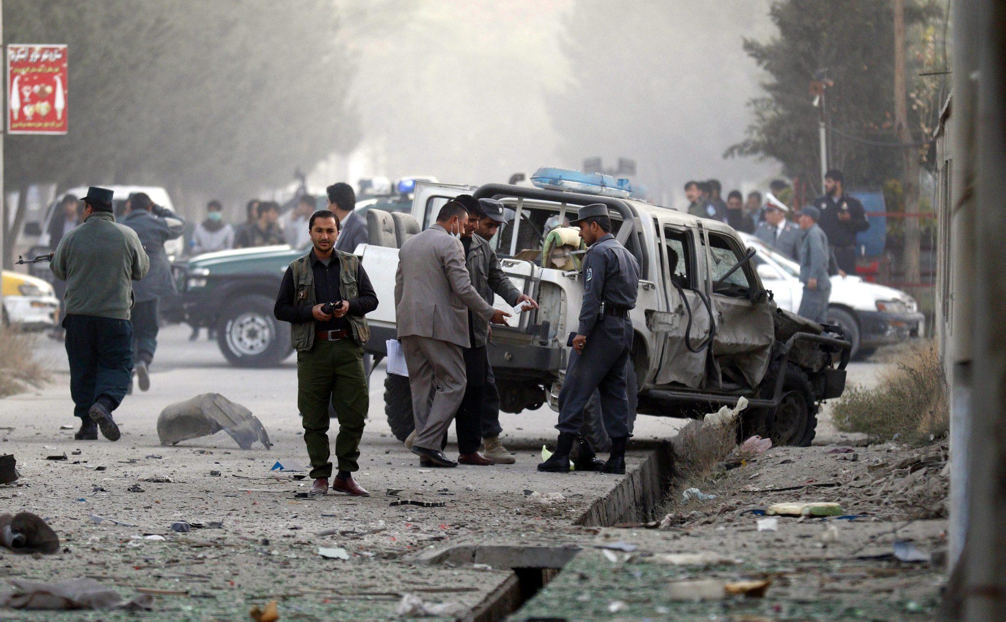 Afganistan: wybuch bomby w Kabulu (foto. PAP/EPA/JAWAD JALALI)