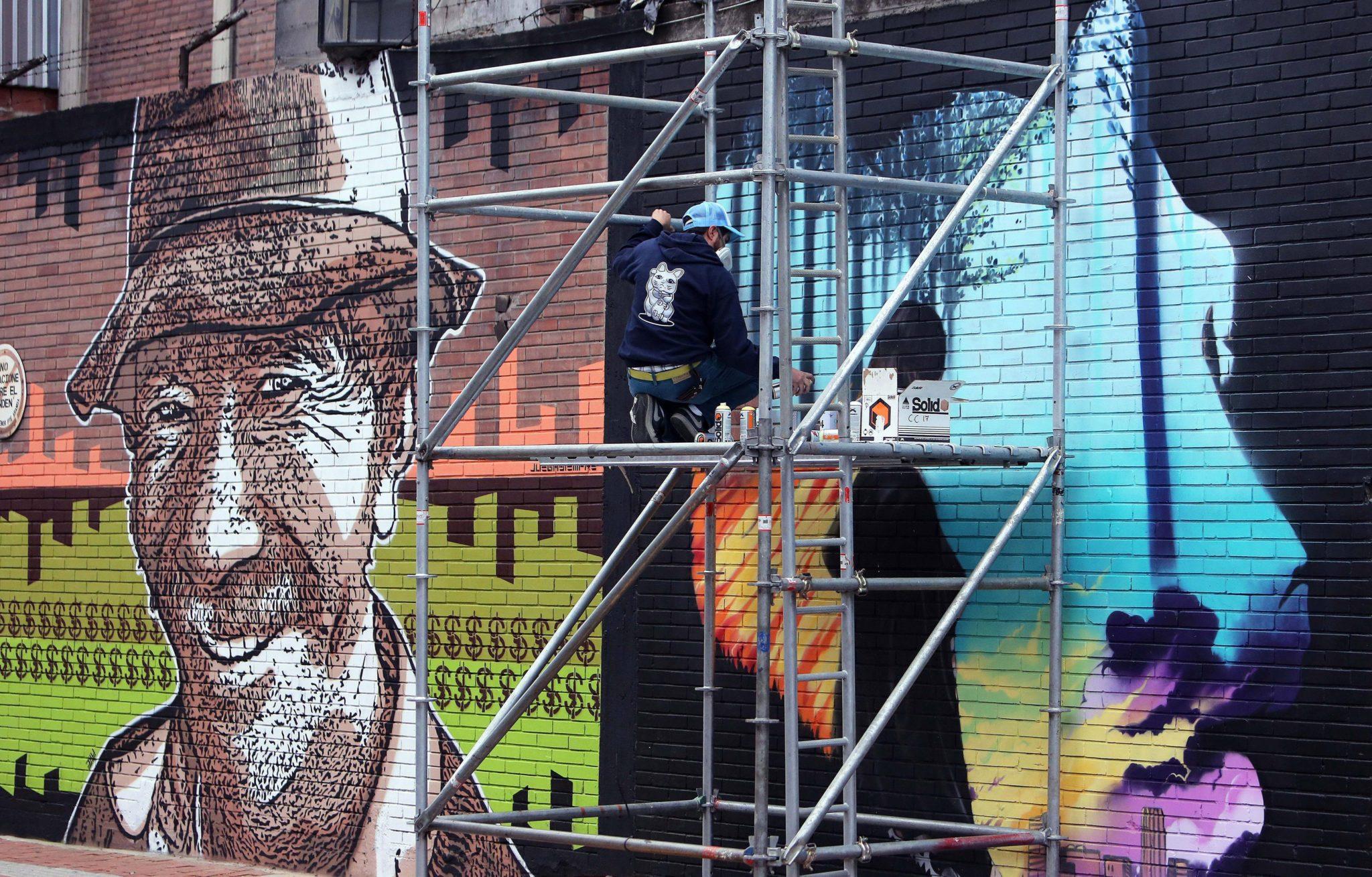 Kolumbia: festiwal sztuki miejskiej: Ciudad Mural Festiwal w Bogocie (foto. PAP/EPA/MAURICIO DUENAS CASTANEDA)
