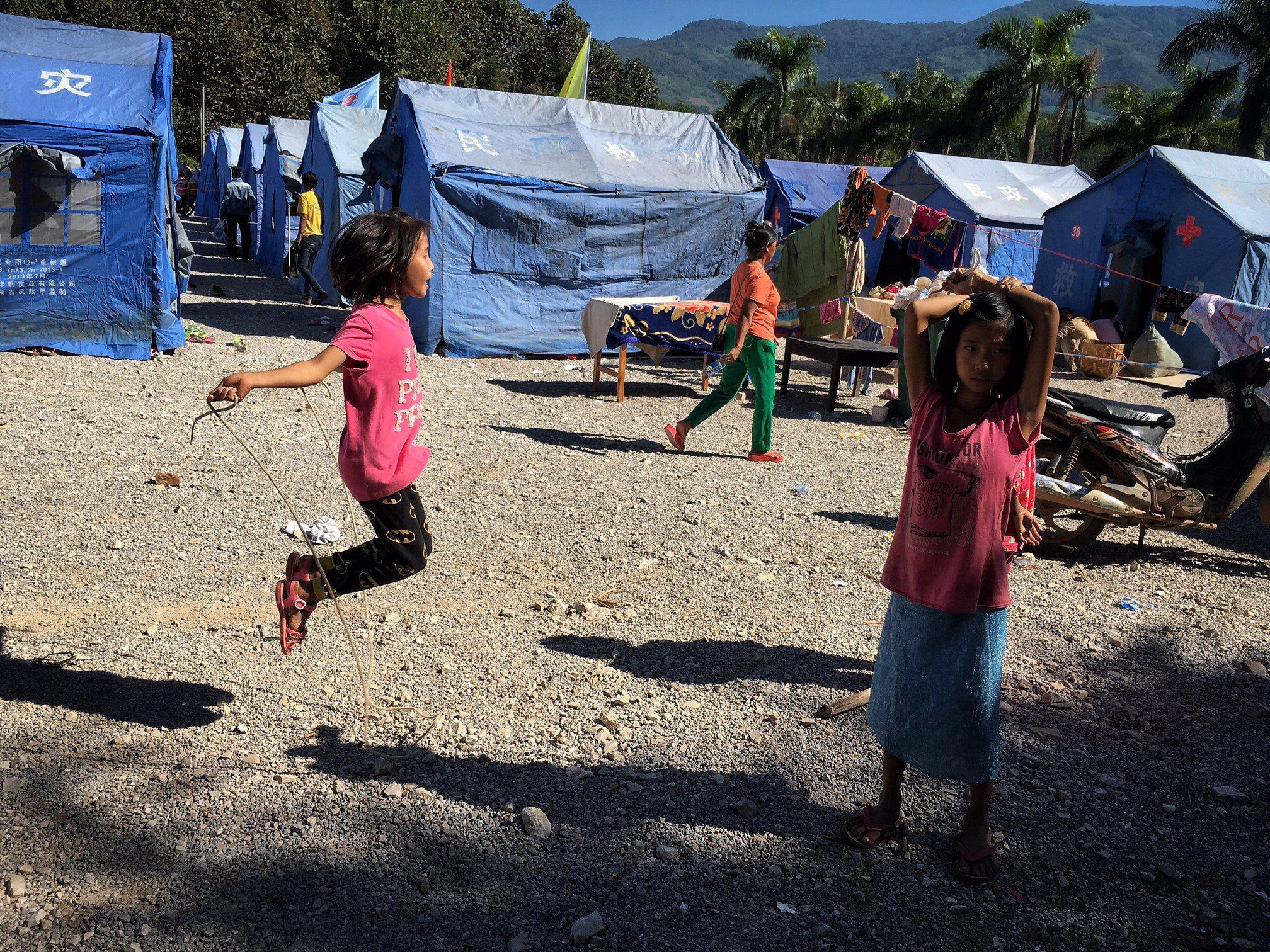 Chiny: obóz dla uchodźców  z Republiki Związku Mjanmy (foto. PAP/EPA/XIE KUANGSHI CHINA)