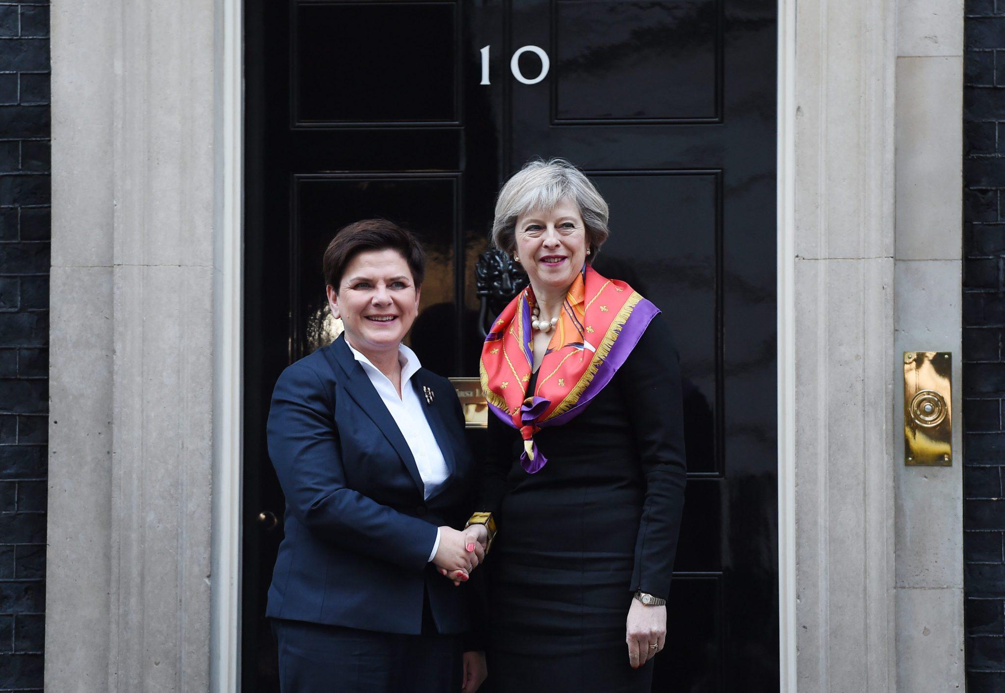 Wielka Brytania: wizyta premier Beaty Szydło w Wielkiej Brytanii (foto. PAP/EPA/ANDY RAIN)