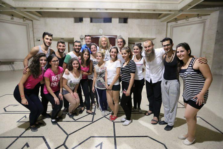 """Maleo i grupa syryjskiej młodzieży, Fot. SWM """"Młodzi światu"""""""