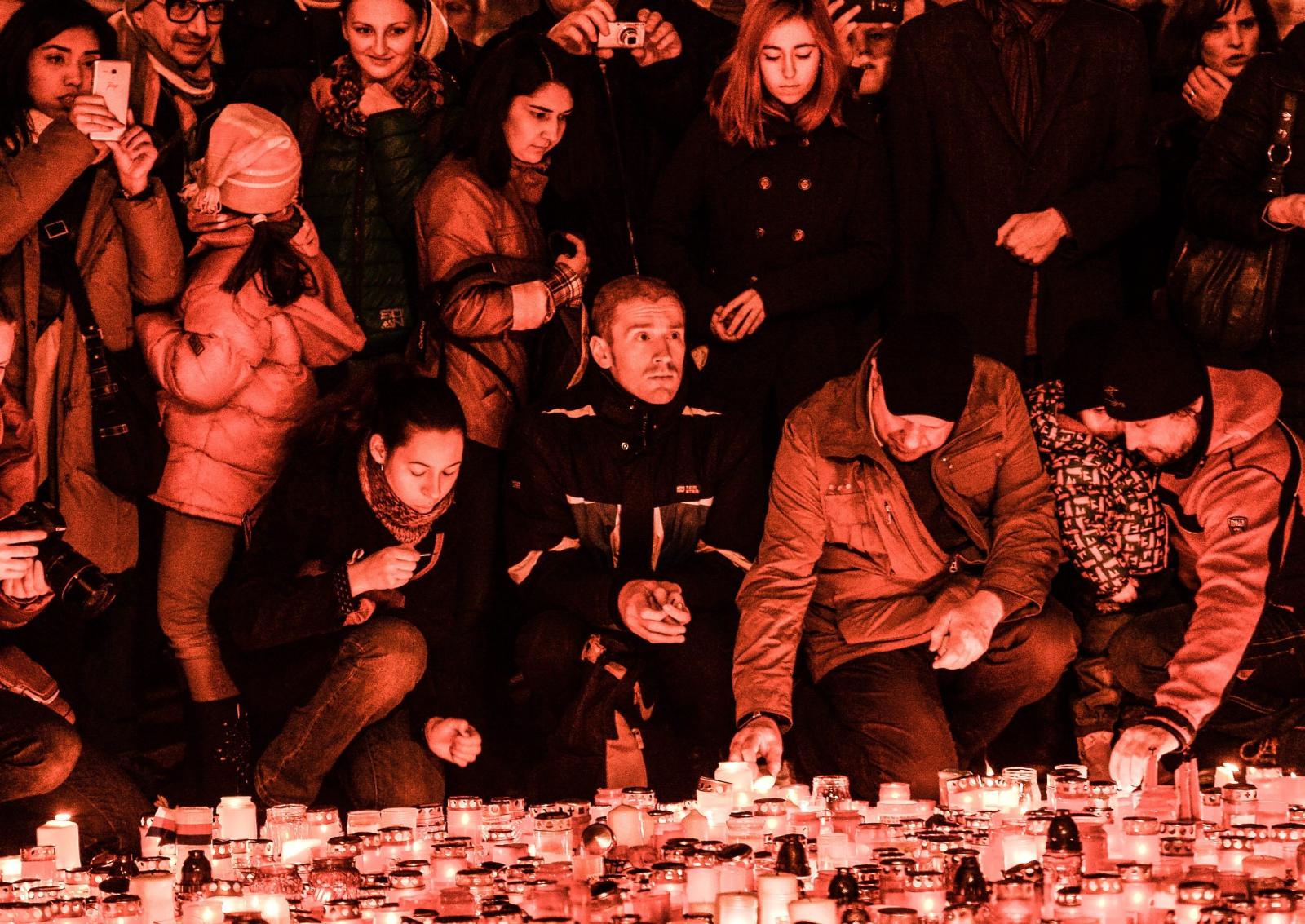 Czesi świętują 27. rocznicę Aksamitnej rewolucjii. Fot.EPA/FILIP SINGER