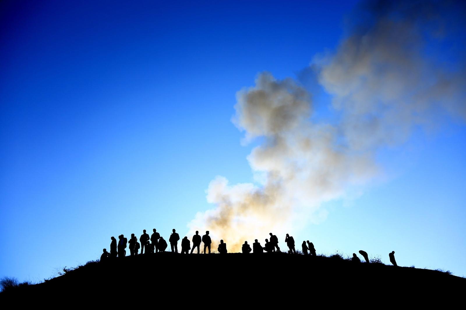 Zapadnięcie się kopalni miedzi w Turcji.  3 osoby zabite i 13 zaginionych. PAP/EPA/SERTAC KAYAR