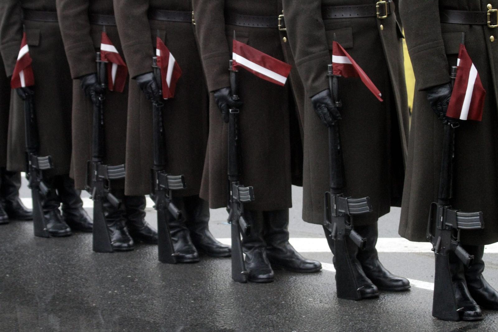 98. rocznica ogłoszenia niepodległości na Łotwie. PAP/EPA/VALDA KALNINA