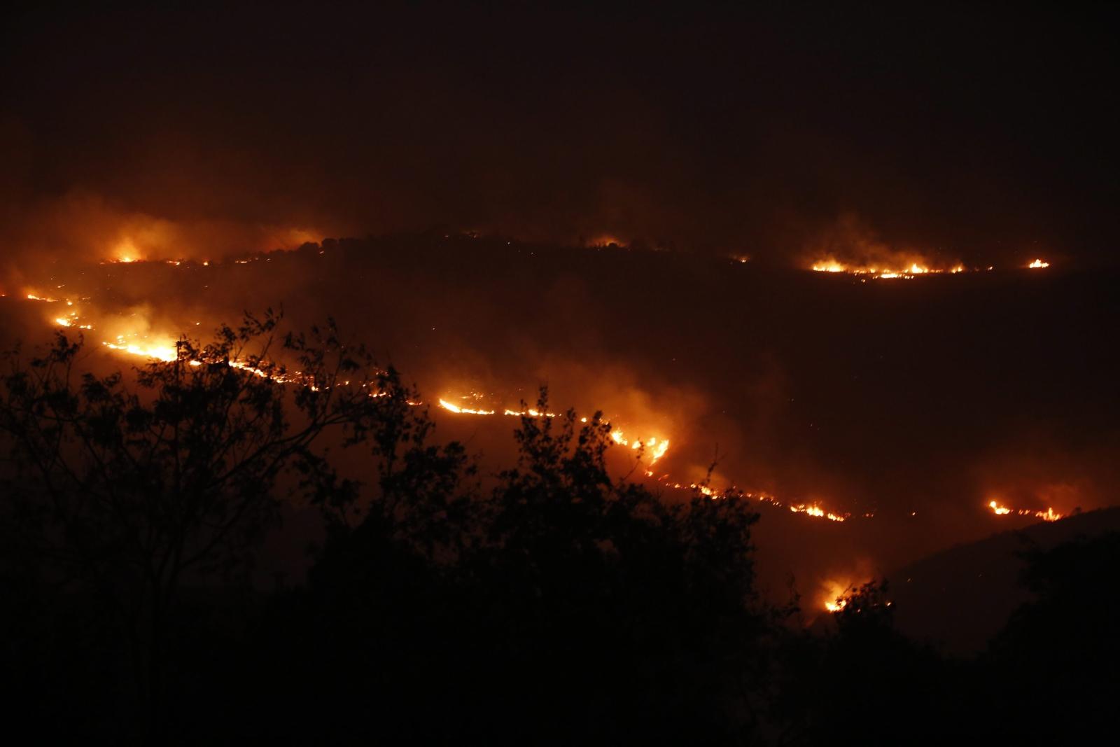 Pożar w Nataf, niedaleko Jerozolimy. Fot. PAP/ EPA/ABIR SULTAN