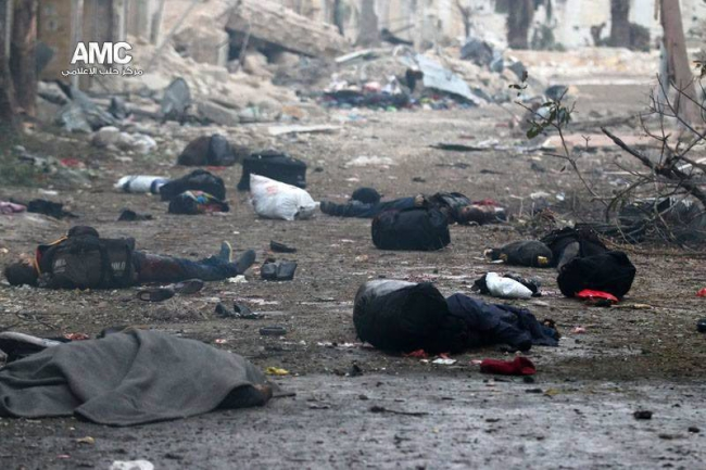 Bombardowanie w Aleppo zabiło ok. 45 osób. Fot. PAP/EPA/ALEPPO MEDIA CENTER / JAWAD AL-RIFAI