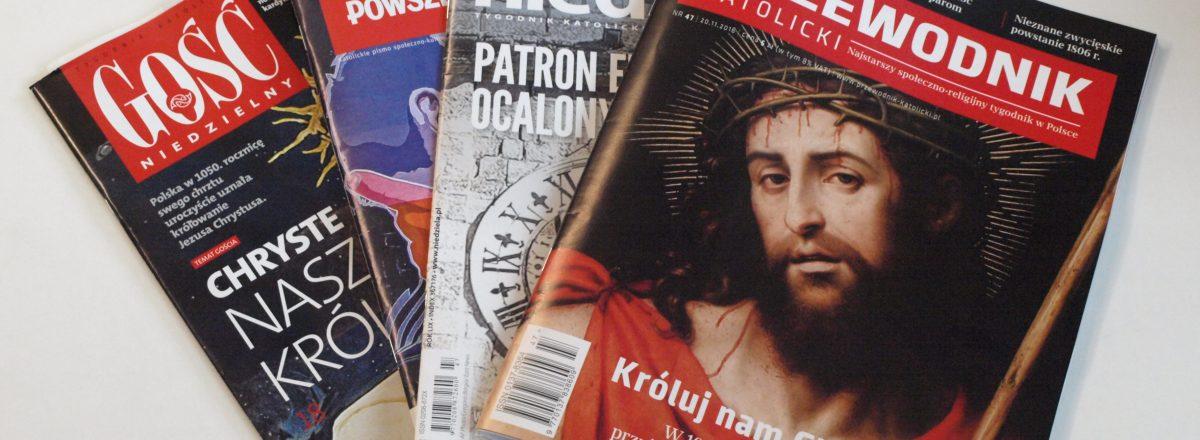 okładki tygodników katolickich