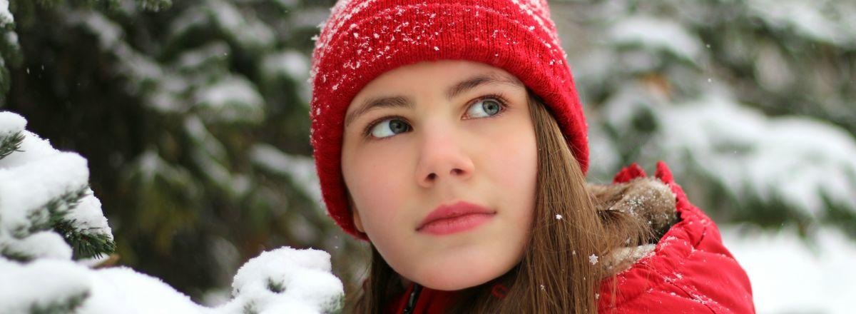 zima, kobieta