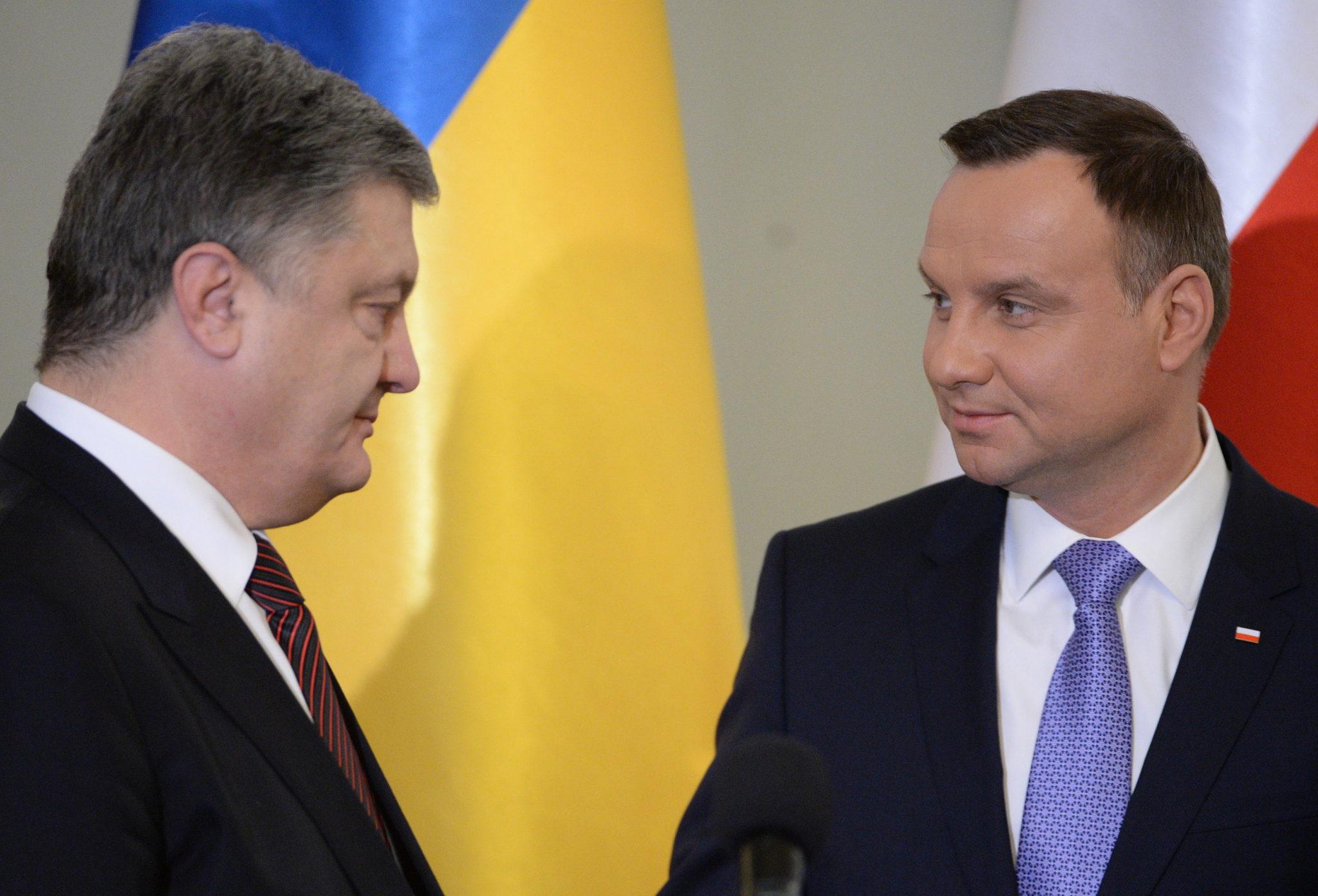 Polska: wizyta prezydenta Ukrainy Petro Poroszenki w Polsce (foto. PAP/Jacek Turczyk)
