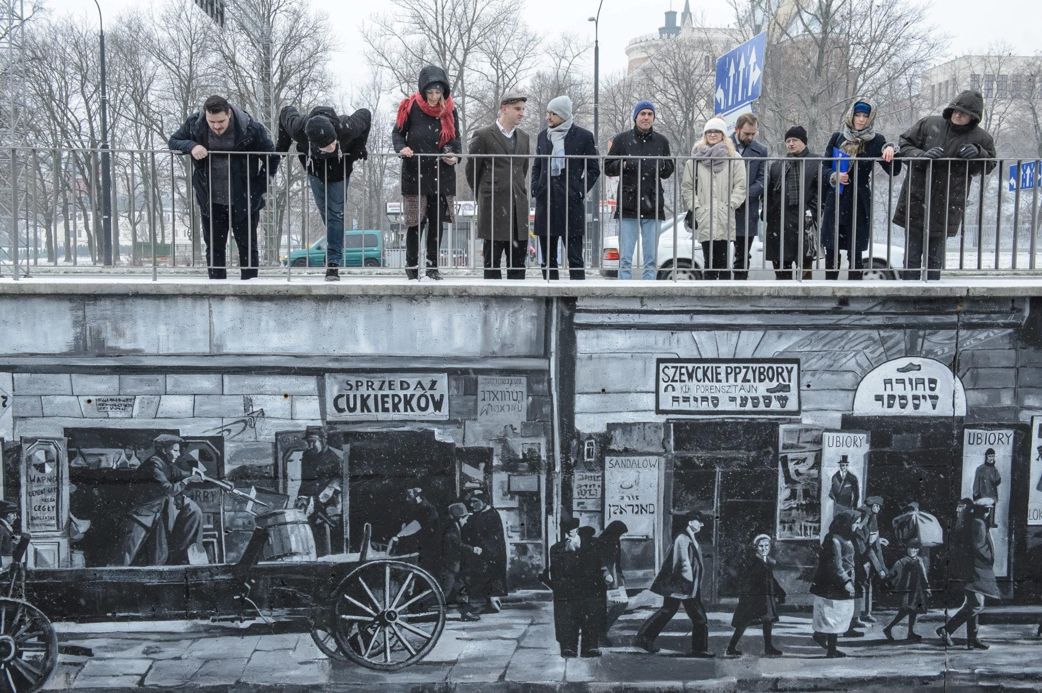Polska: mural upamiętniający Dzielnicę Żydowską w Lublinie (foto. PAP/Wojciech Pacewicz)