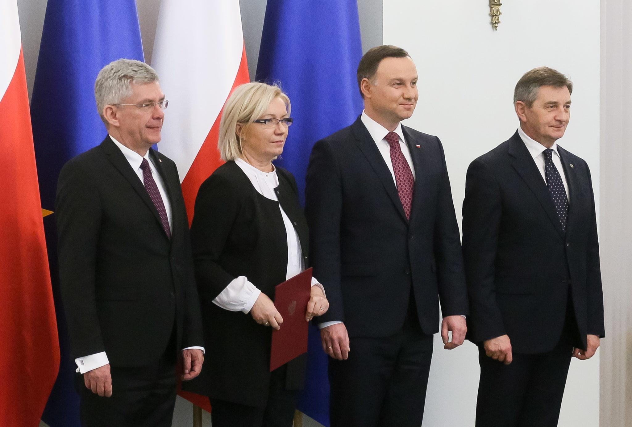 Polska: powołanie nowego prezesa Trybunału Konstytucyjnego w Pałacu Prezydenckim w Warszawie (foto. PAP/Paweł Supernak)