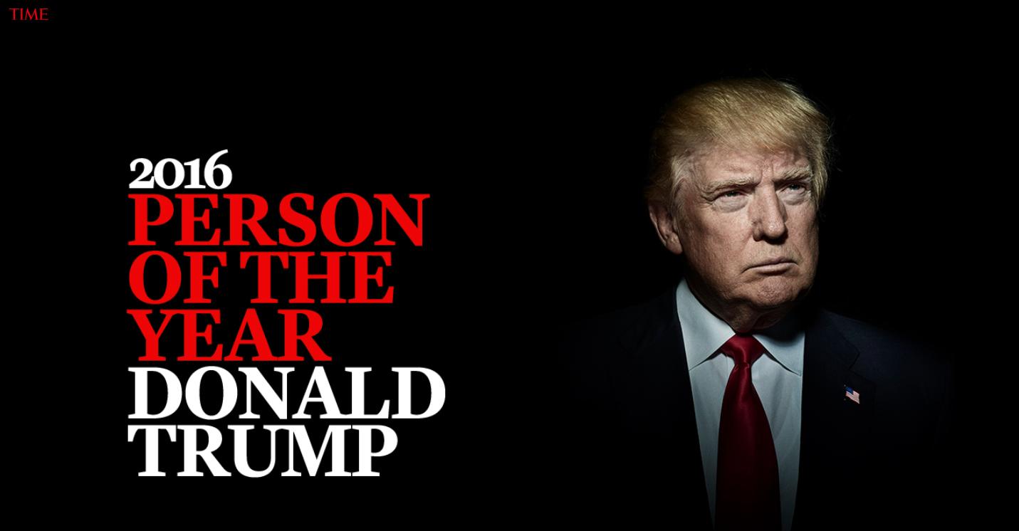 USA: Donald Trump człowiek roku tygodnika Time (foto. time.com)