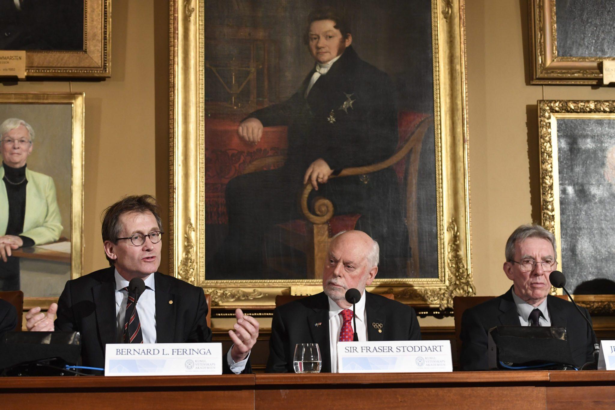 Szwecja: konferencja laureatów nagrody Nobla w Sztokholmie (foto. PAP/EPA/HENRIK MONTGOMERY)