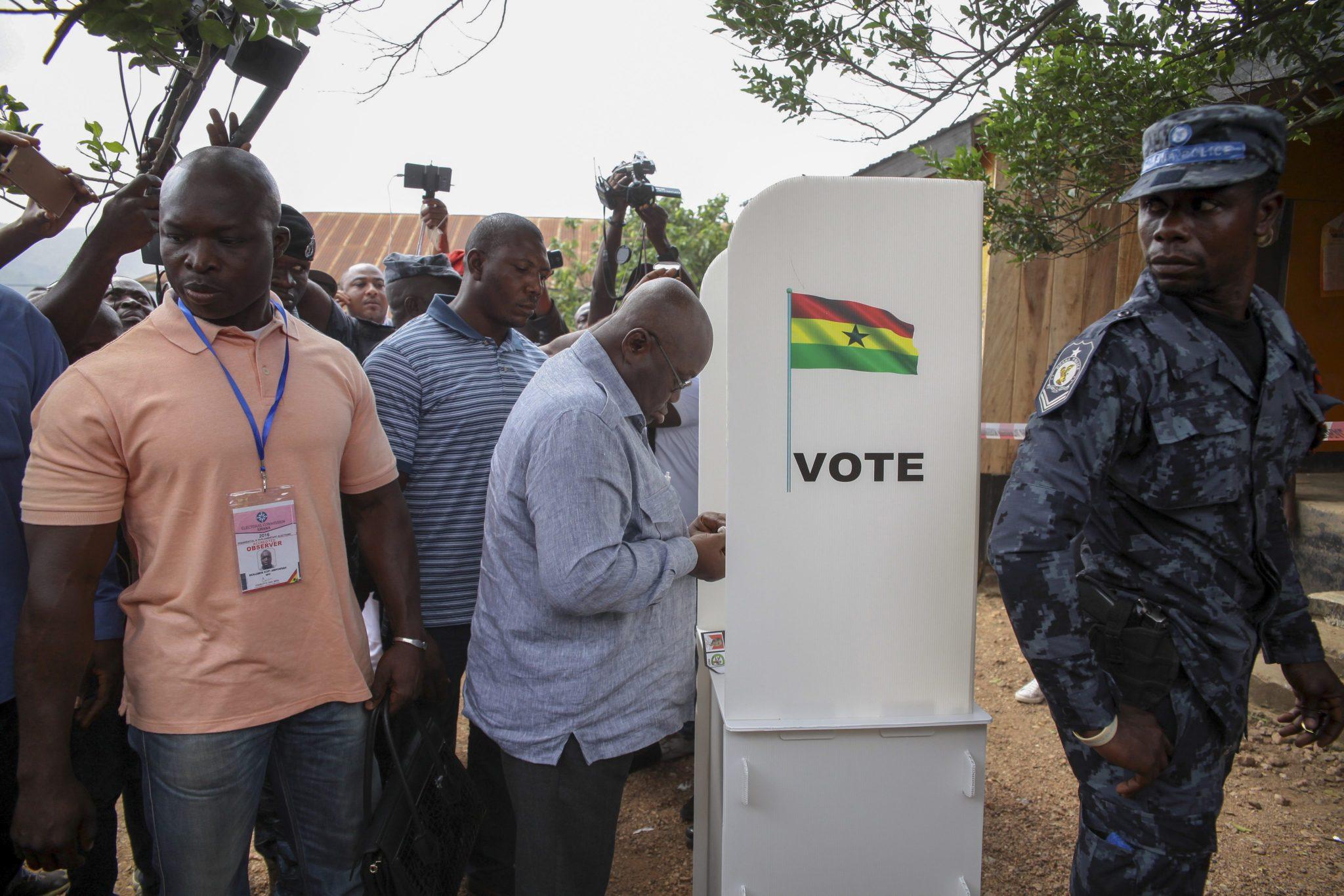 Ghana: wybory prezydenckie (foto. PAP/EPA/CHRISTIAN THOMPSON)
