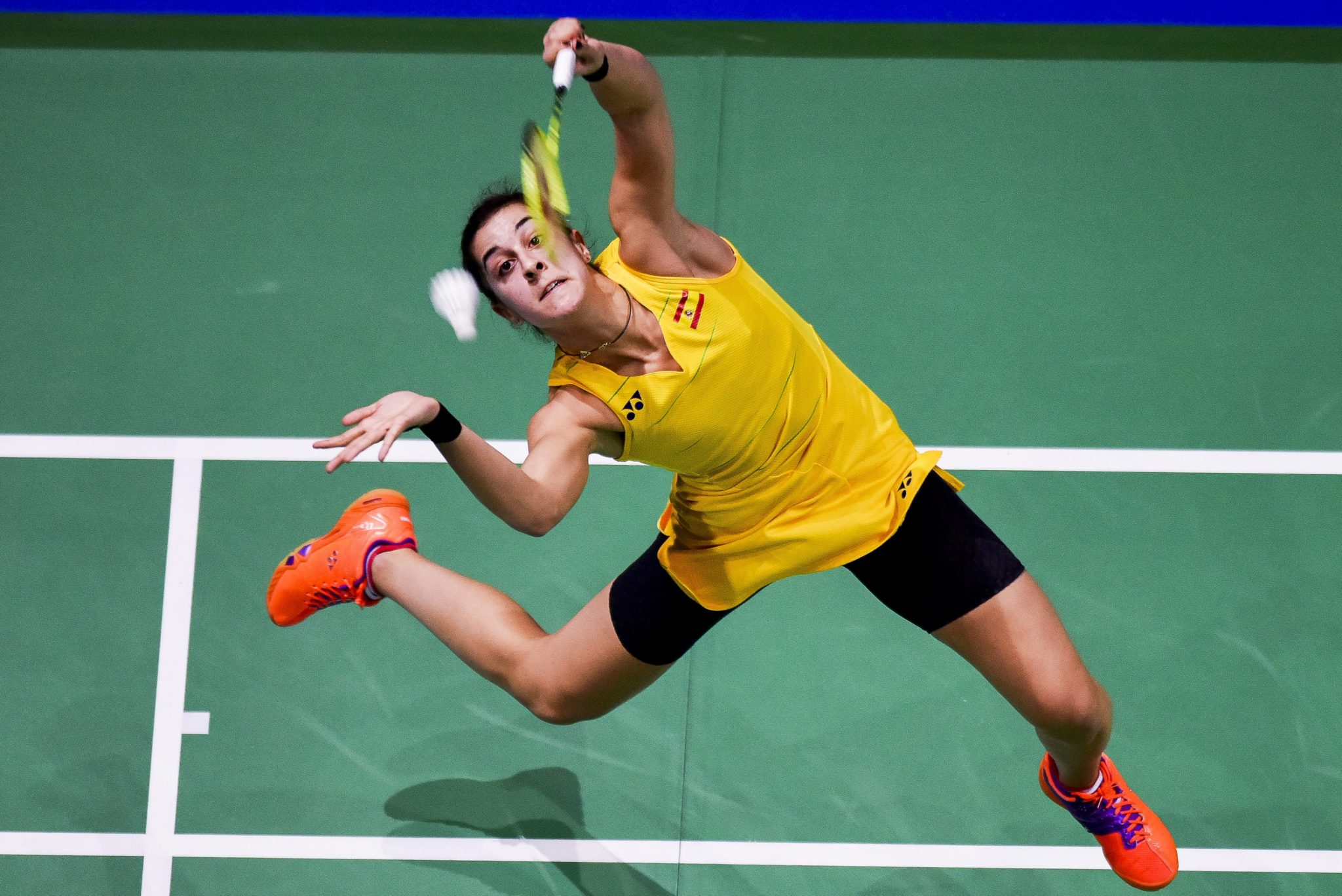 Zjednoczone Emiraty Arabskie: finał Mistrzostw Świata w Badmintonie w Dubaju (foto. PAP/EPA/STRINGER)