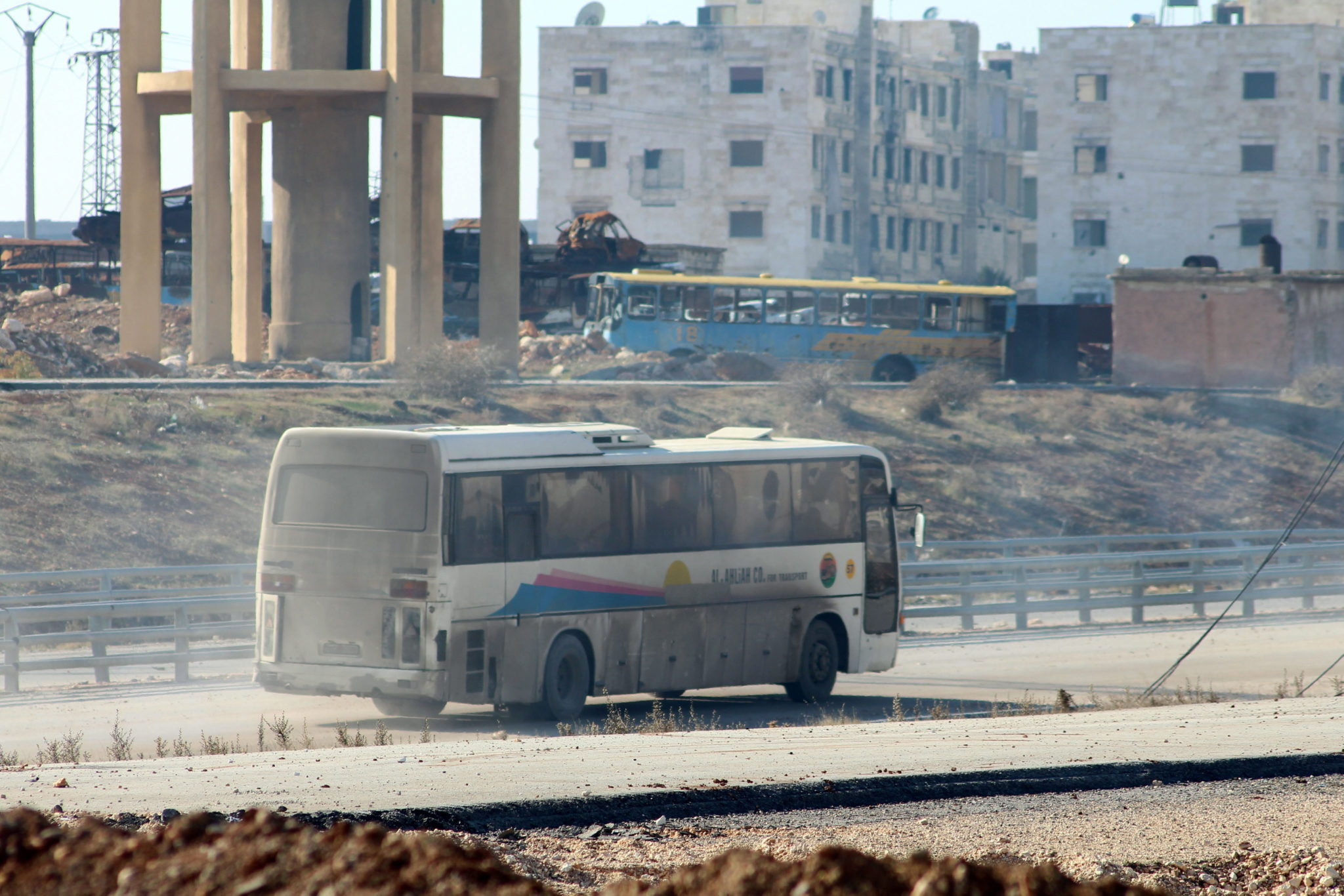 Syria: ewakuacja Aleppo (foto. PAP/EPA/STR)