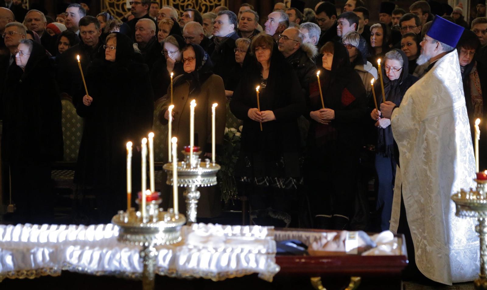 Pogrzeb zabitego w Turcji ambasadora Rosji.  Fot. PAP/EPA/MAXIM SHIPENKOV