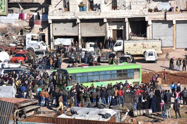 Ewakuacja Aleppo. Fot. PAP/EPA/SANA HANDOUT