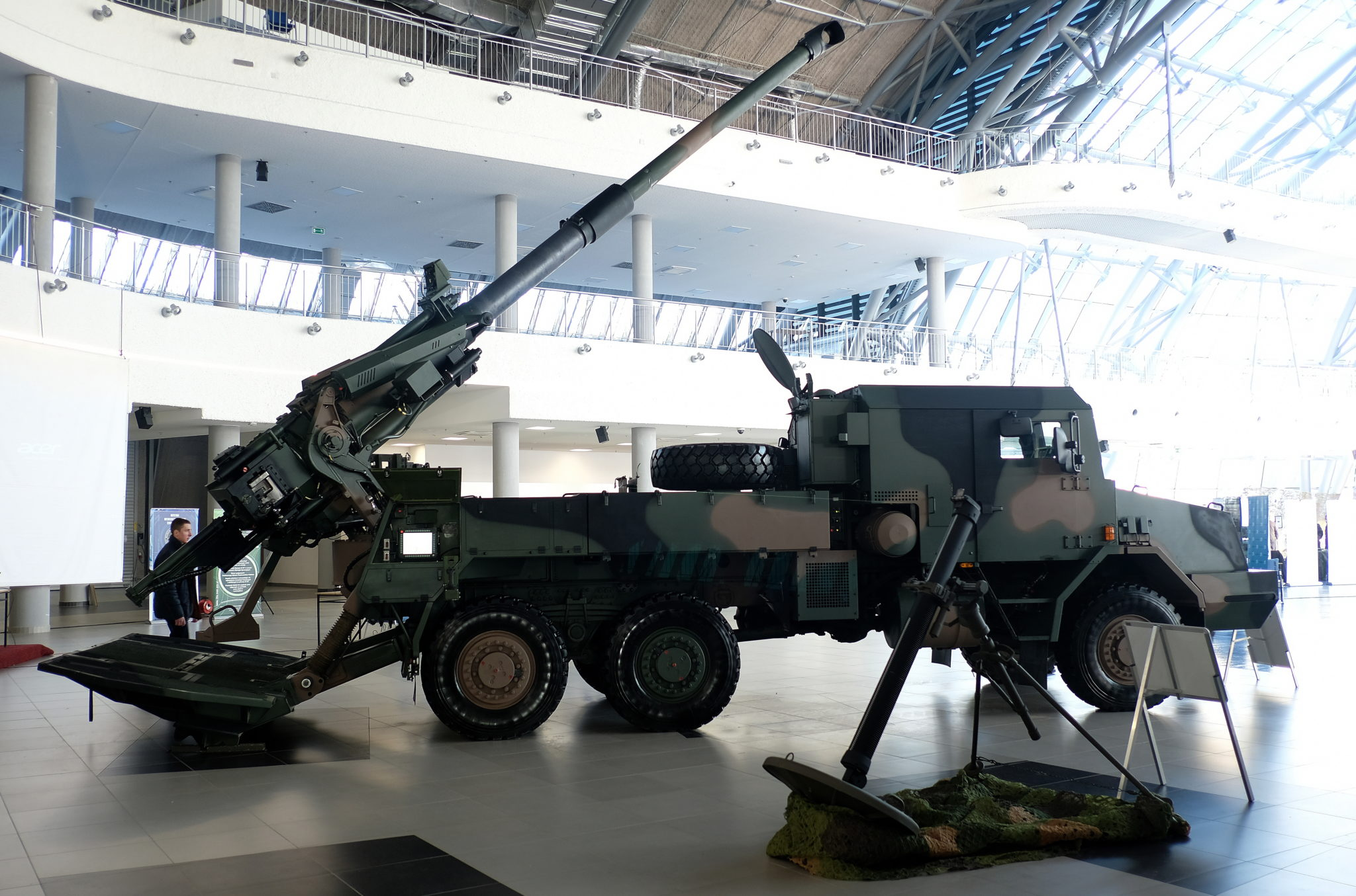 Polska: prezentacja innowacyjnego uzbrojenia w Jasionce koło Rzeszowa (foto. PAP/Darek Delmanowicz)