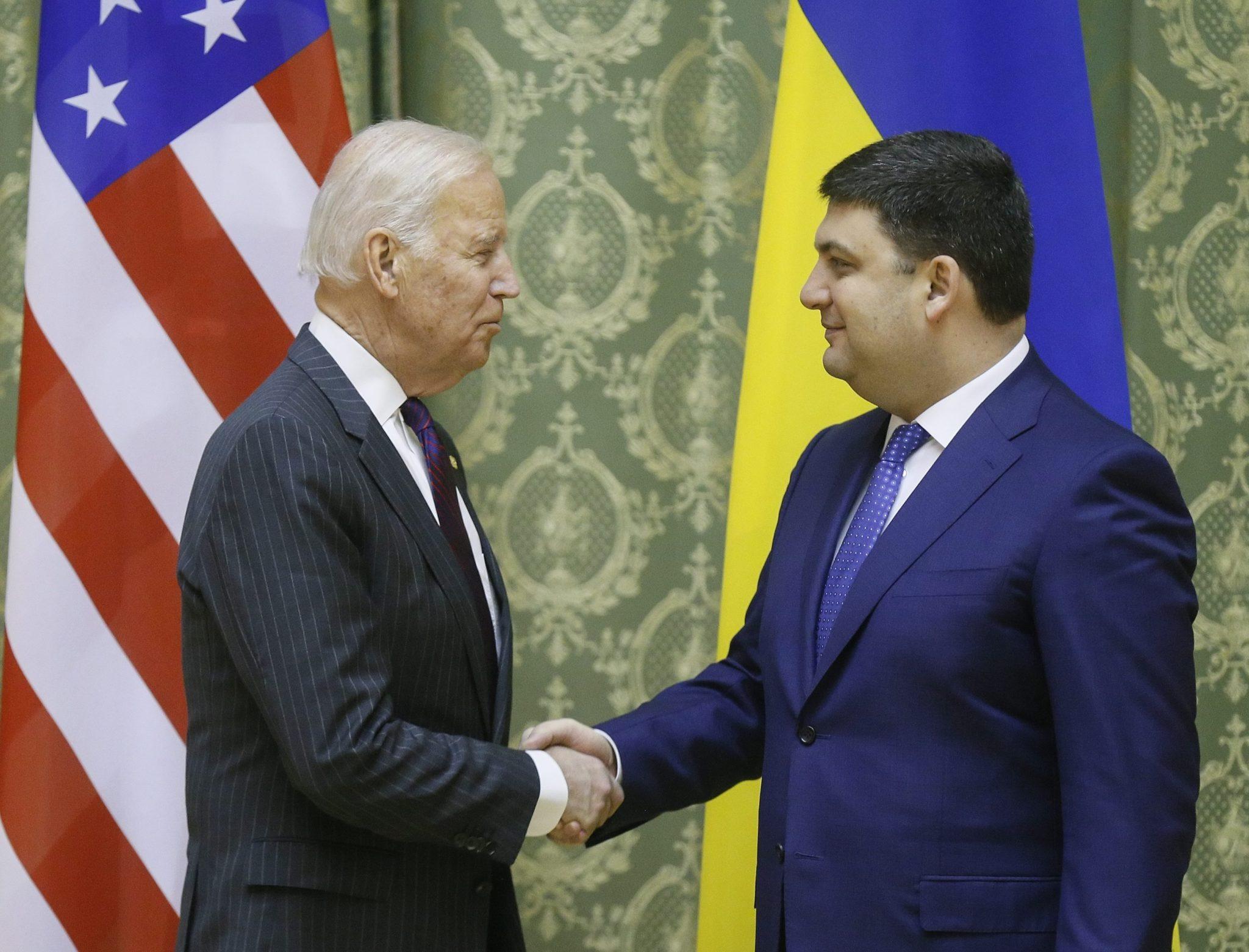 Ukraina: wizyta wiceprezydenta USA Joe Bidena w Kijowie (foto. PAP/EPA/SERGEY DOLZHENKO)