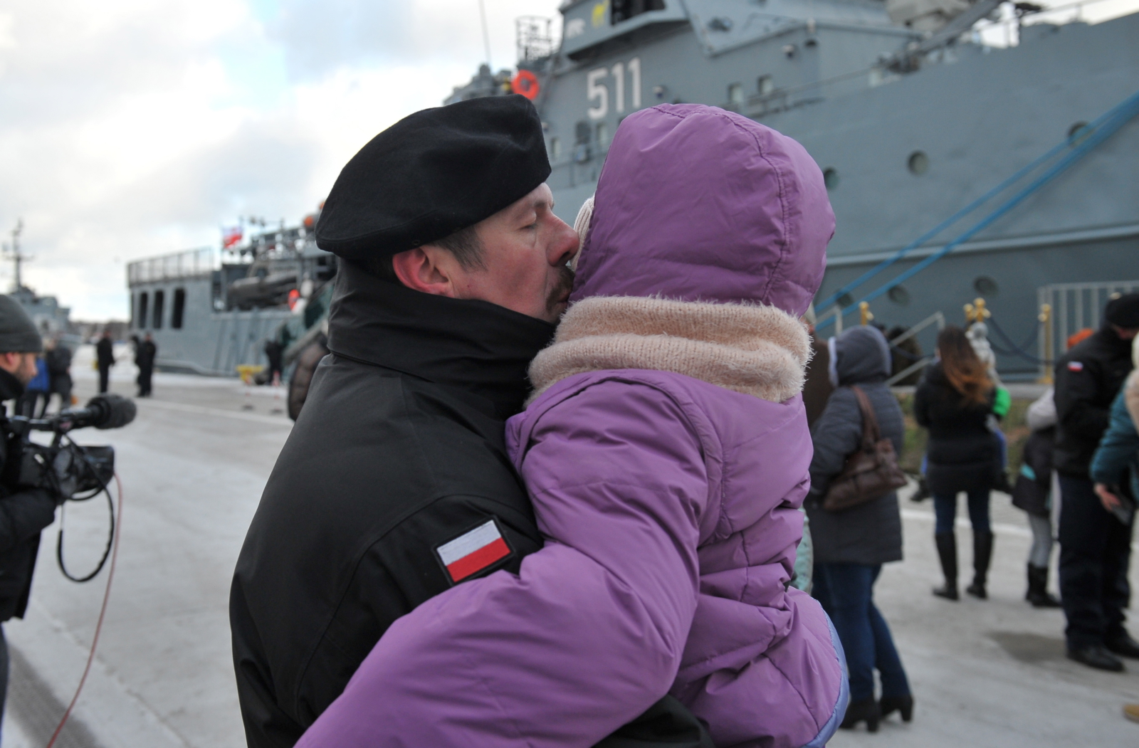 Pożegnanie okrętu dowodzenia siłami obrony przeciwminowej ORP