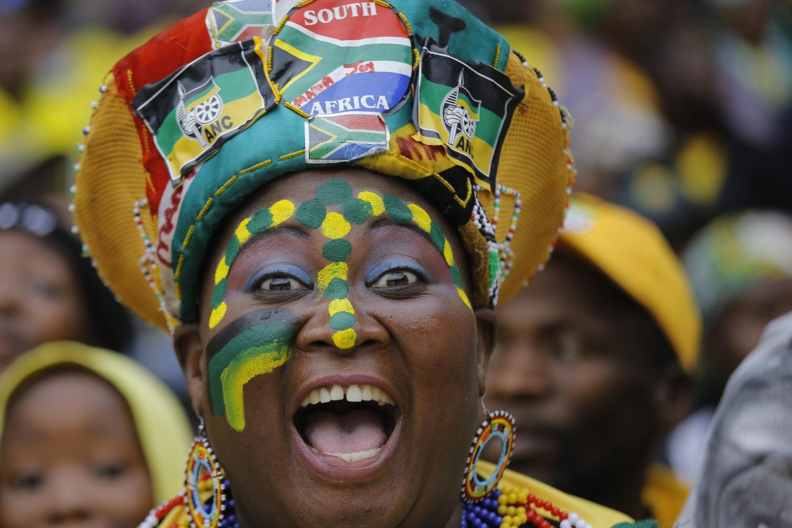 W Republice Południowej Afryki 20 tys. osób świętowało 105. rocznicę powstania Kongresu. Fot. PAP/ EPA/KIM LUDBROOK