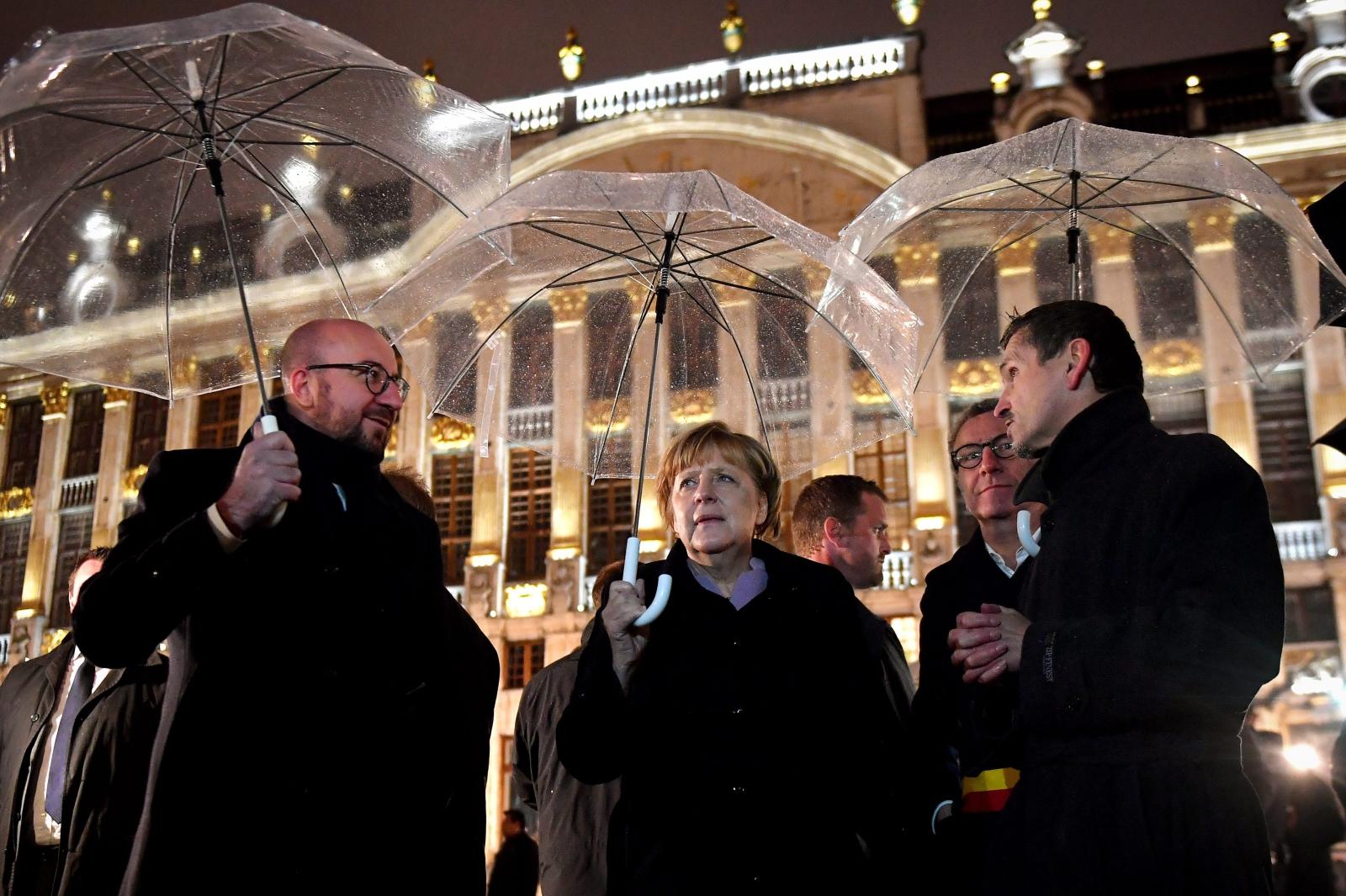 Wizyta Angeli Merkel w Belgii. Fot. PAP/EPA/DAVID STOCKMAN / POOL BELGIUM OUT