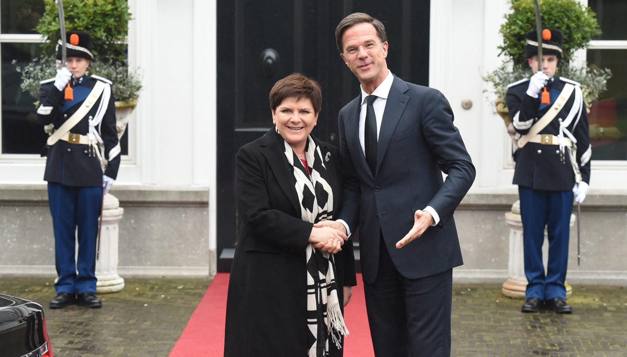 Holandia: spotkanie Beaty Szydło z premierem Holandii Markiem Rutte w Hadze (foto. PAP/Radek Pietruszka)