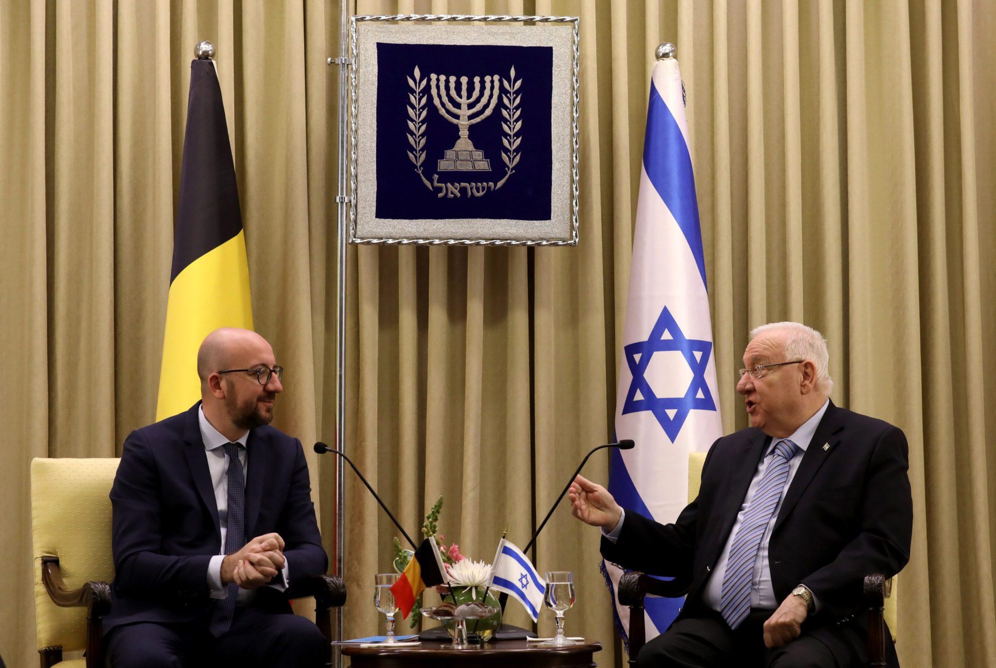 Izrael: wizyta premiera Belgii w Jerozolimie (foto. PAP/EPA/GALI TIBBON)