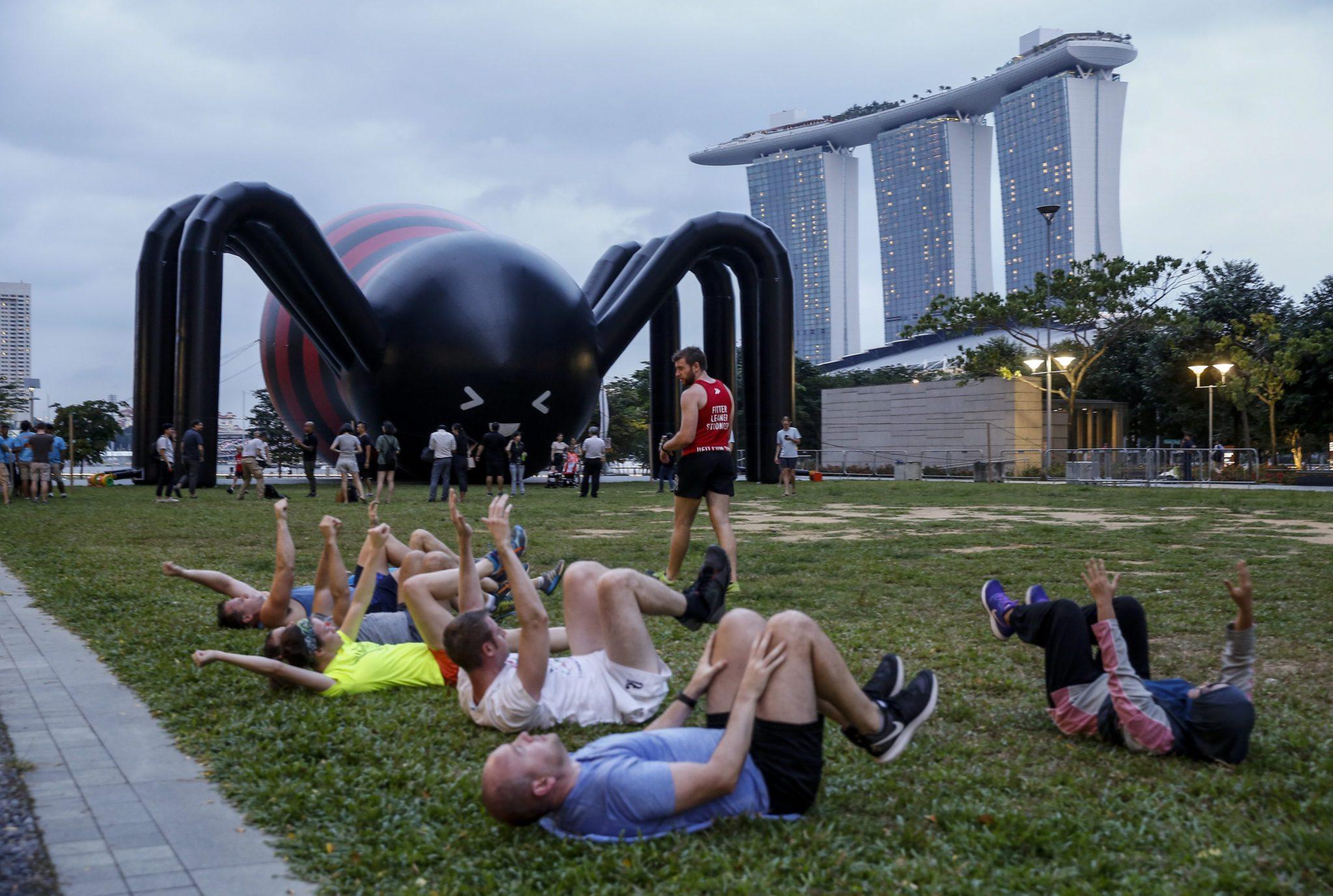 Singapur: iLight Festival w Singapurze (foto. PAP/EPA/WALLACE WOON)