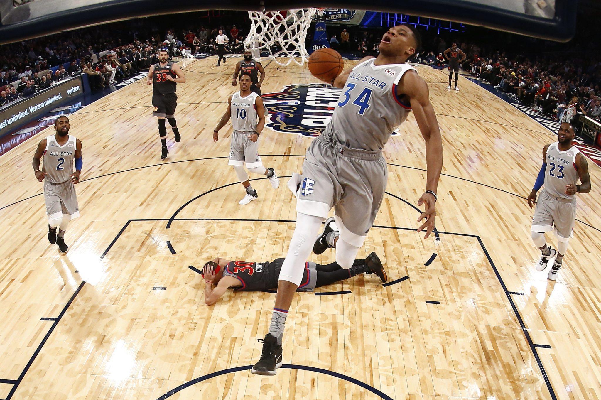 USA: Mecz Gwiazd Ligi NBA rozgrywany w nowym Orleanie (foto. PAP/EPA/LARRY W. SMITH)