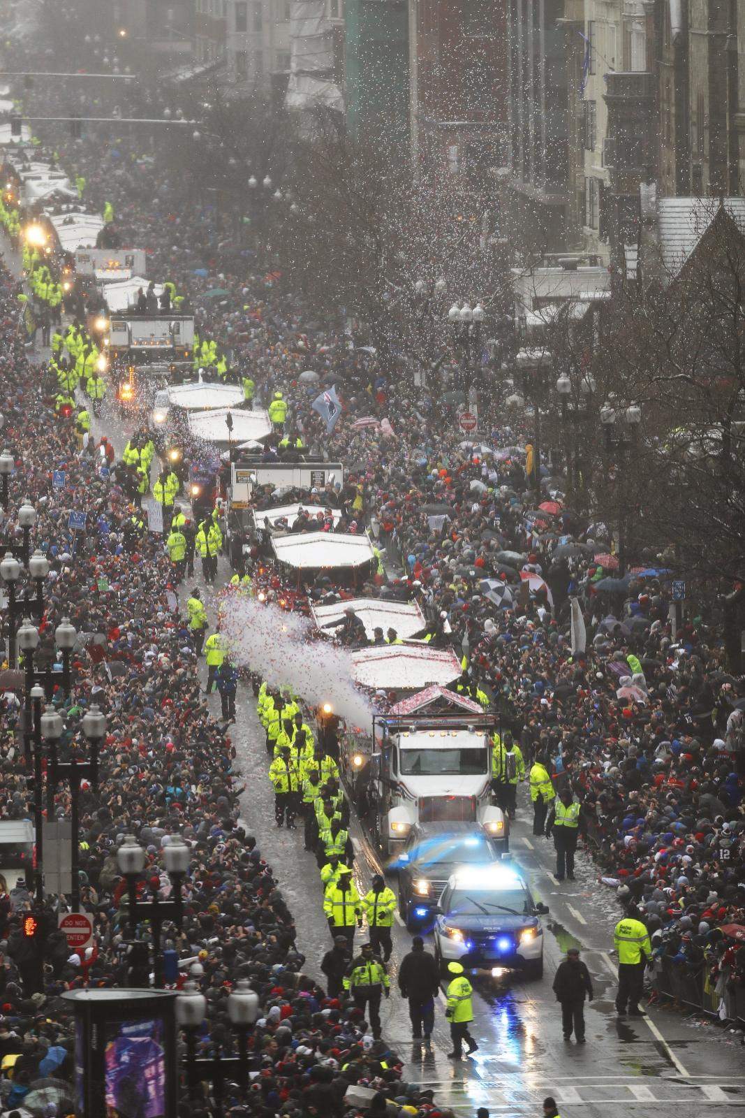 Parada zwycięstwa zespołu New England Patriots.