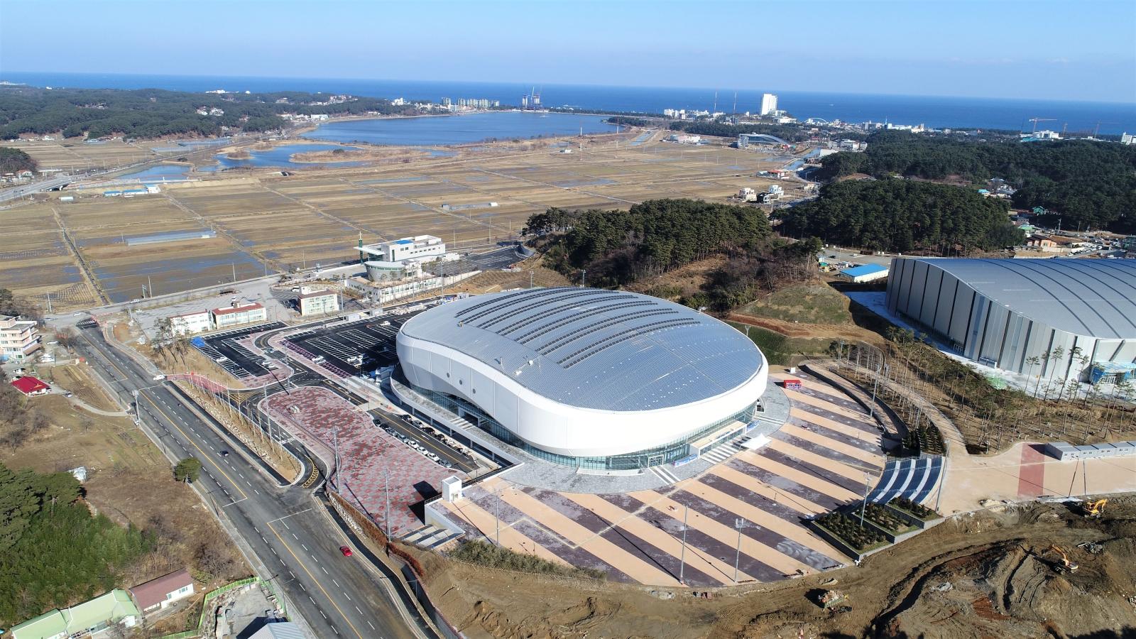 Ice Arena na Zimowe Igrzyska Olimpijskie w Korei Południowej w 2018 r.Fot. PAP/EPA/PYEONGCHANG WINTER OLYMPICS COMMITTEE HANDOUT SOUTH KOREA