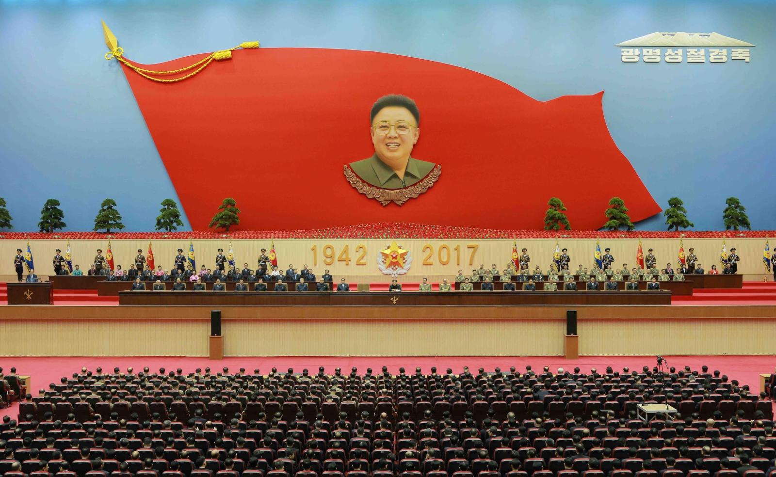 Dzień Świecącej Gwiazdy w Korei Północnej, czyli 75. urodziny dyktatora Kima Jong II. Fot. PAP/EPA/KCNA   EDITORIAL USE ONLY