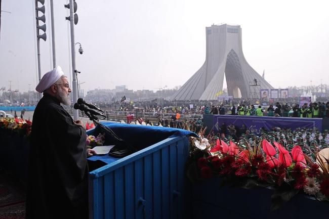 38. rocznica rewolucji islamska w Iranie. Fot. PAP/EPA/PRESIDENT OFFICE HANDOUT  HANDOUT EDITORIAL USE ONLY/NO SALES
