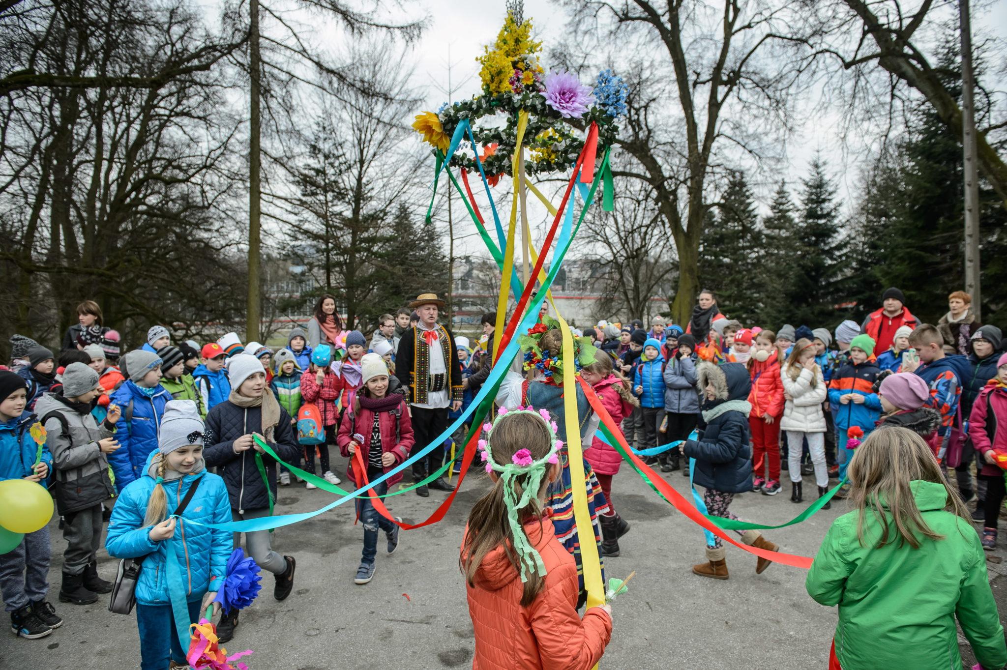 Polska: powitanie kalendarzowej wiosny w Lublinie (foto. PAP/Wojciech Pacewicz)