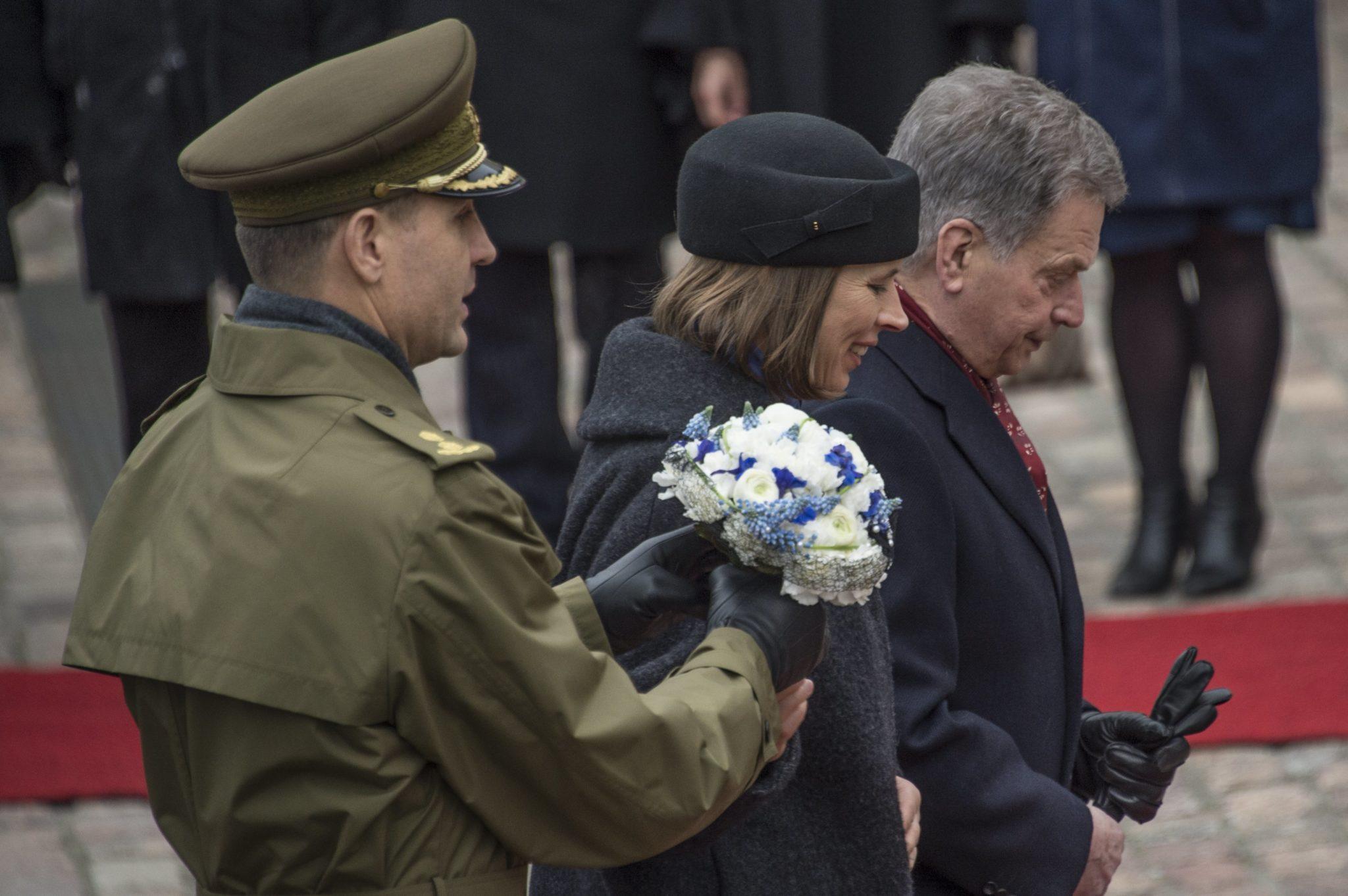 Finlandia: wizyta prezydenta Estonii Kersti Kaljulaida w Finlandii (foto. PAP/EPA/MARKKU OJALA)