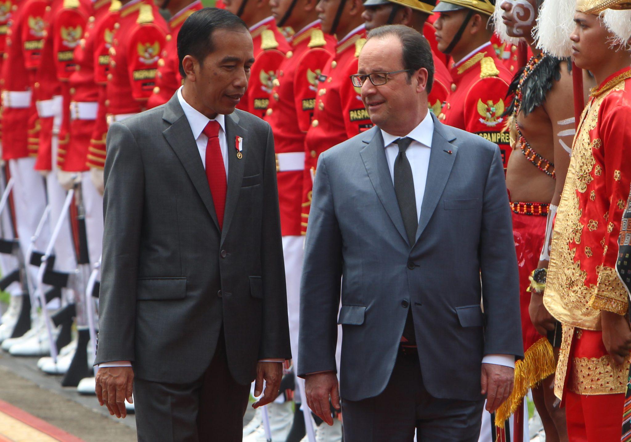 Indonezja: wizyta prezydenta Francji Fracois'a Hollande'a w Dżakarcie (foto. PAP/EPA/ADI WEDA)
