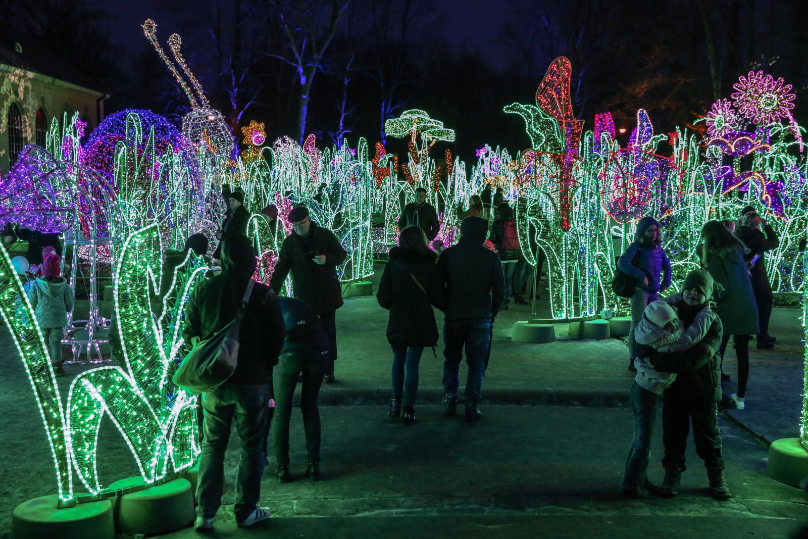 V Królewski Festiwal Światła Wilanów 2017 odbywający się w Warszawie w mijający weekend.