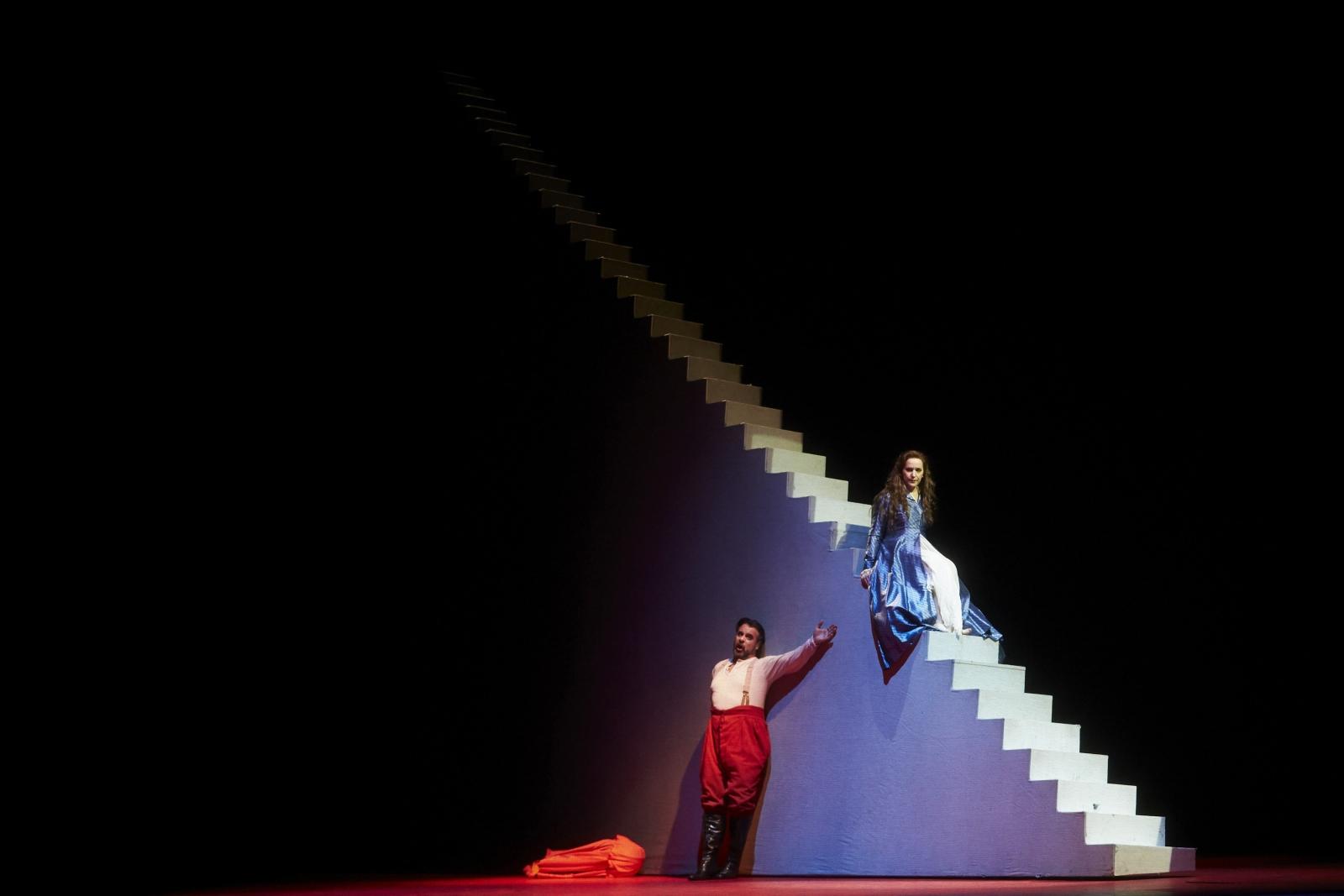 Kadr ze spektaklu Rigoletto Giuseppe Verdi'ego, Barcelona, Hiszpania.
