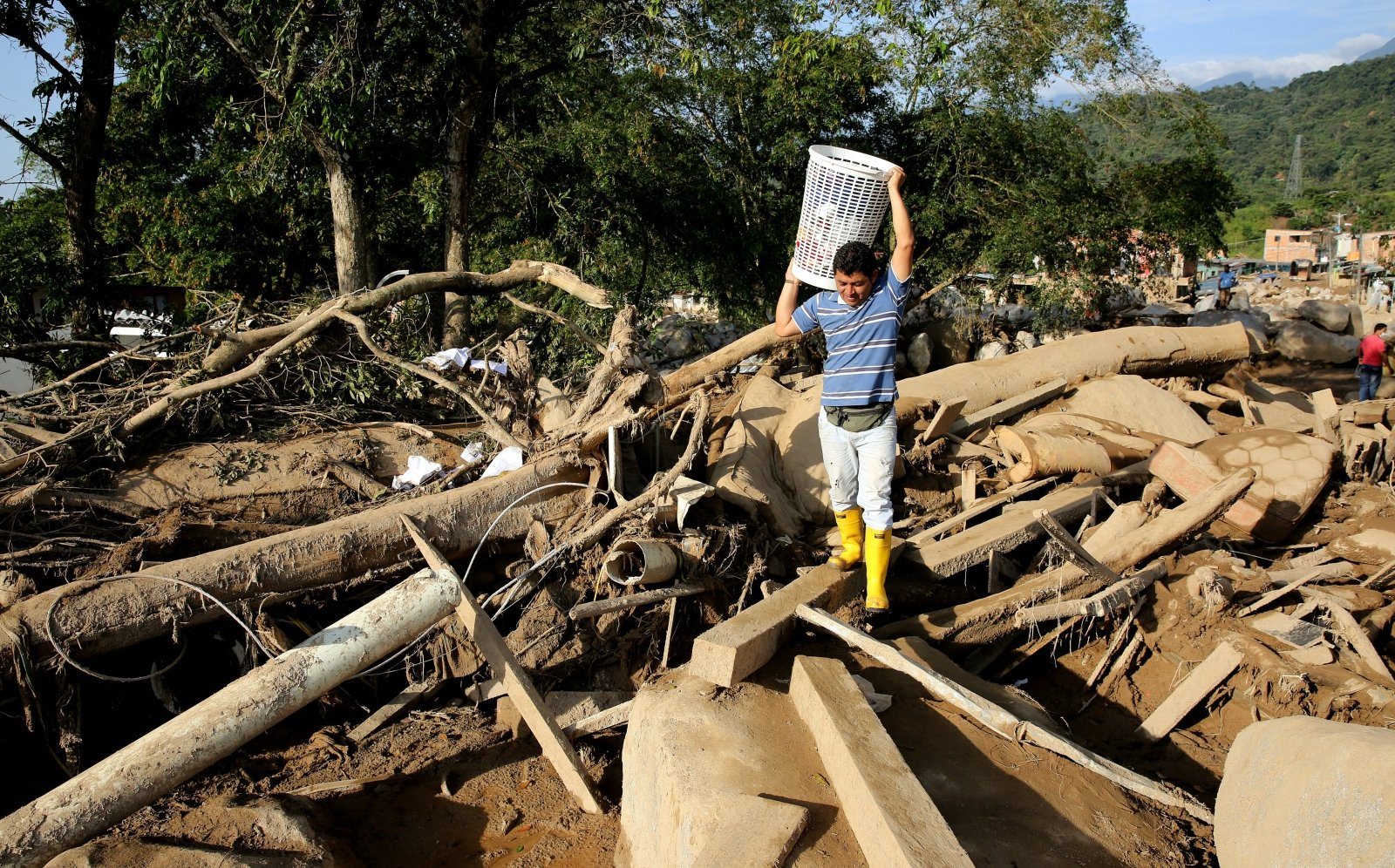 W powodziach błotnych zginęło 270 osób, Mocoa, Kolumbia.